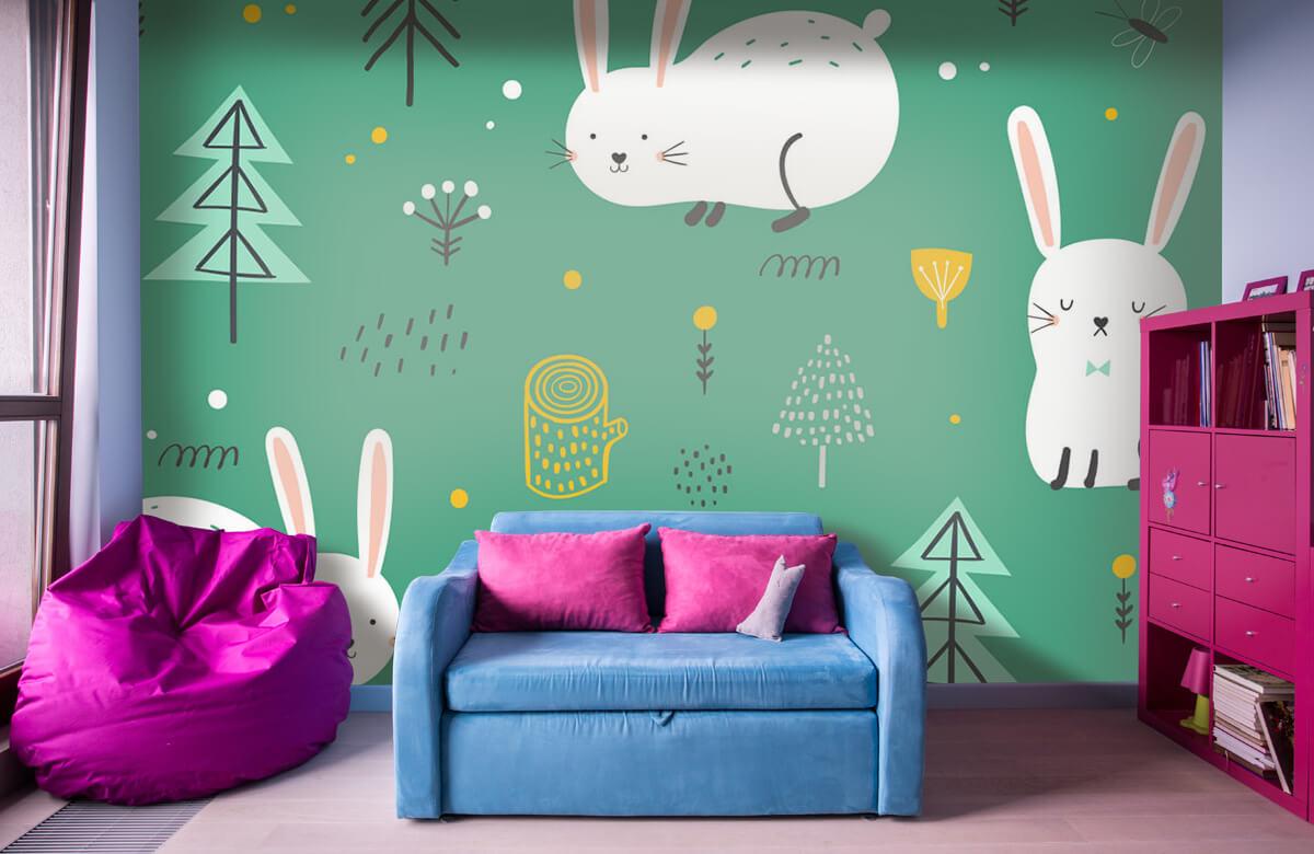 Pattern Mönster av kaniner 1