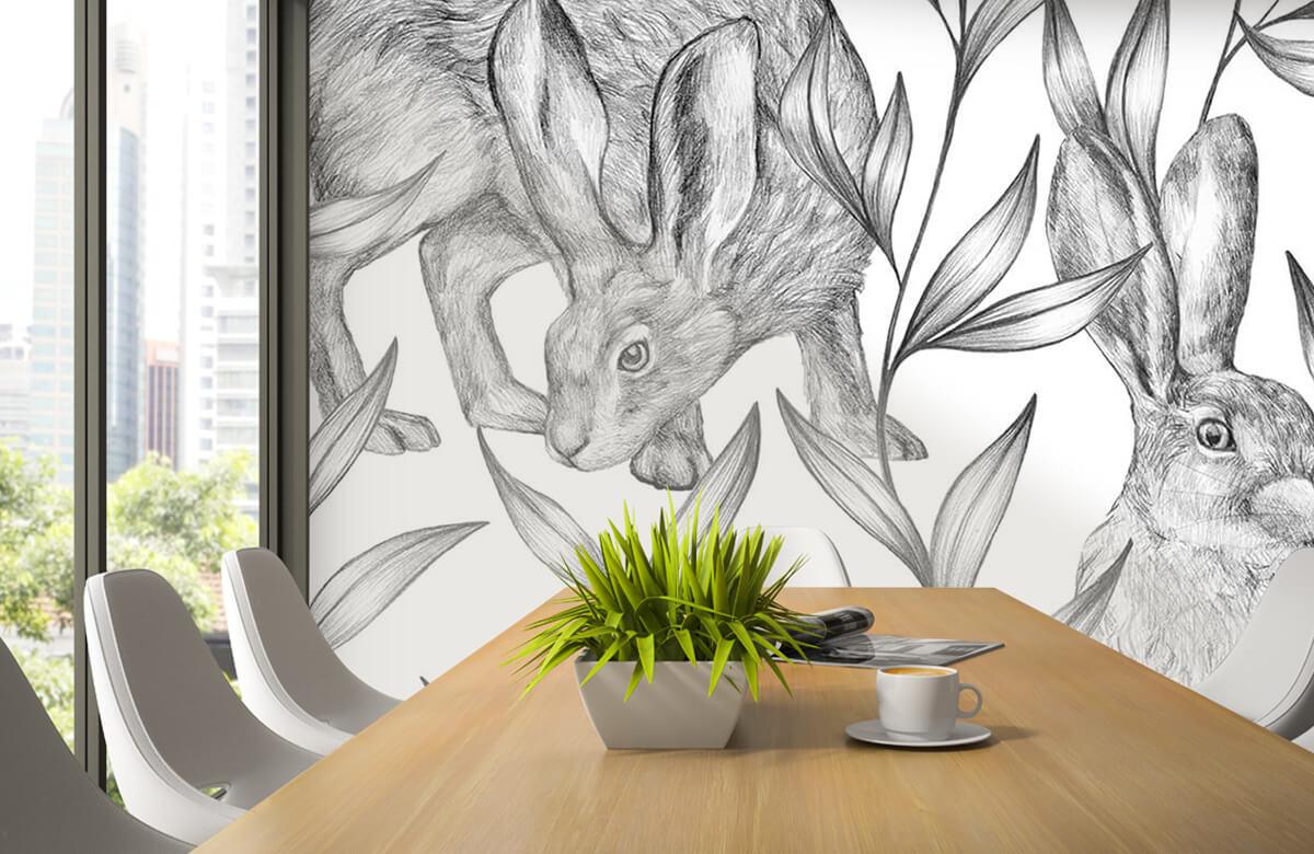 Pattern Hare i svartvitt 5