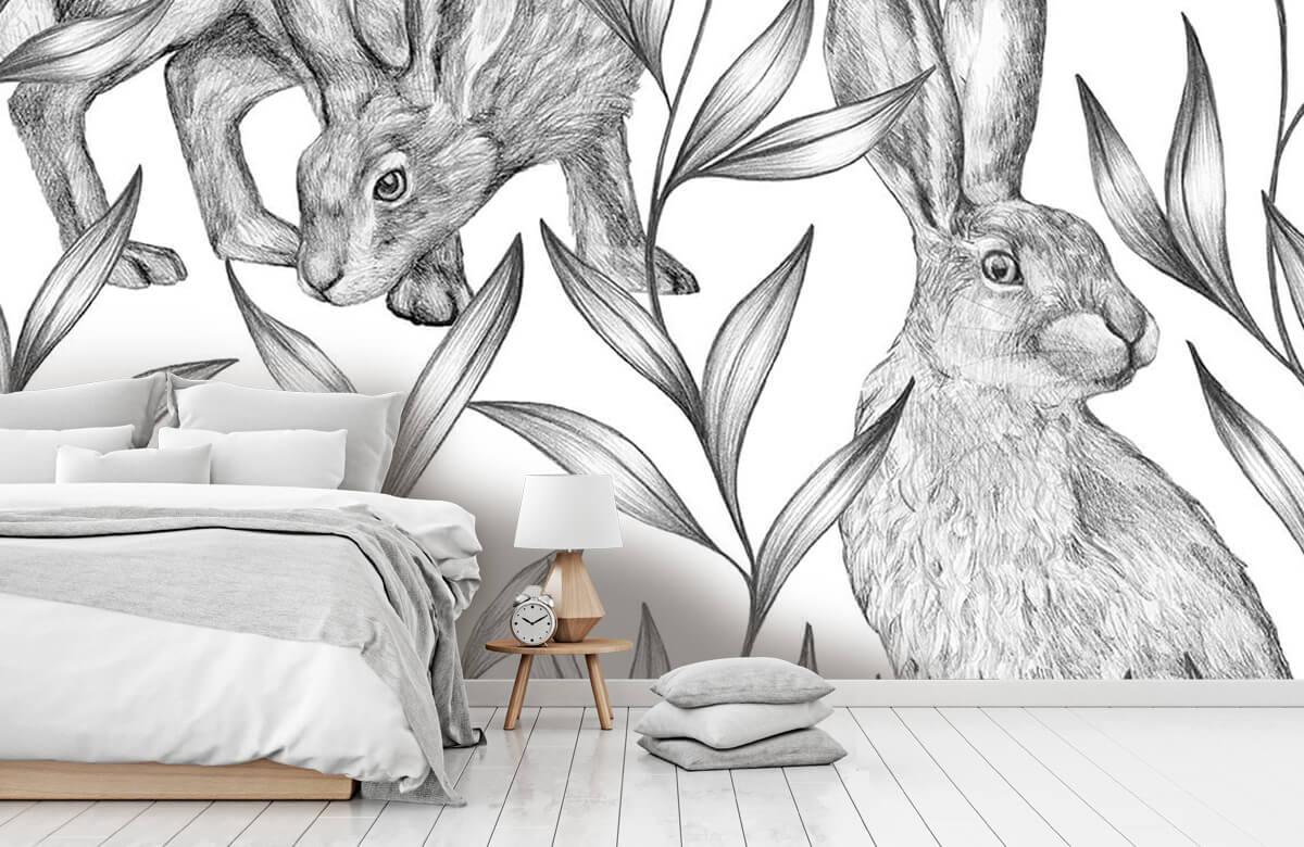 Pattern Hare i svartvitt 11