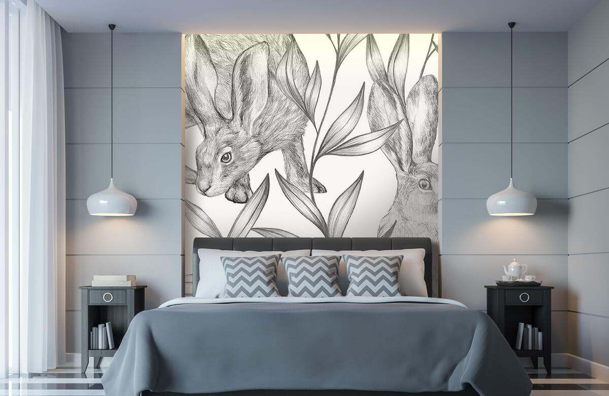 Pattern Hare i svartvitt 8