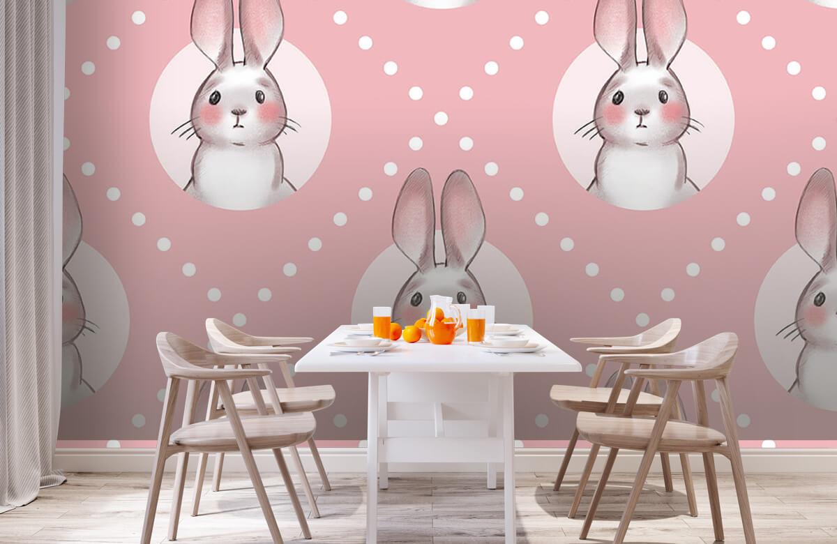 Pattern Rosa kaninmönster 3