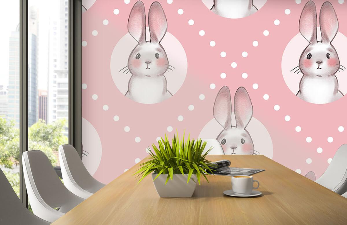 Pattern Rosa kaninmönster 6