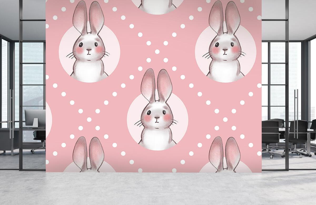 Pattern Rosa kaninmönster 8