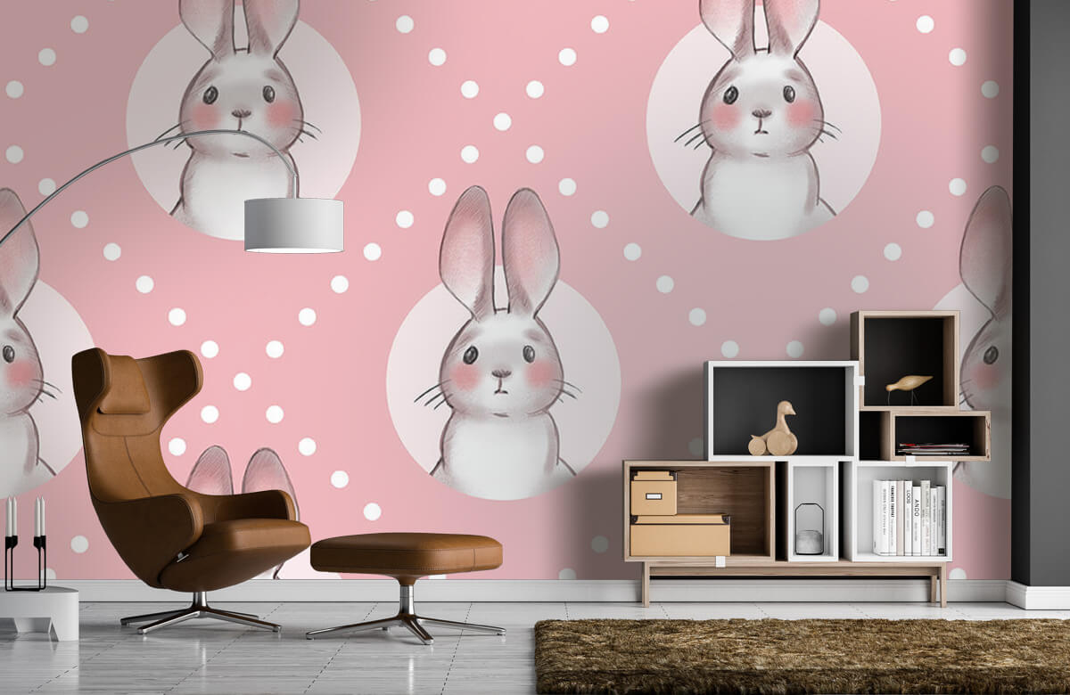 Pattern Rosa kaninmönster 9