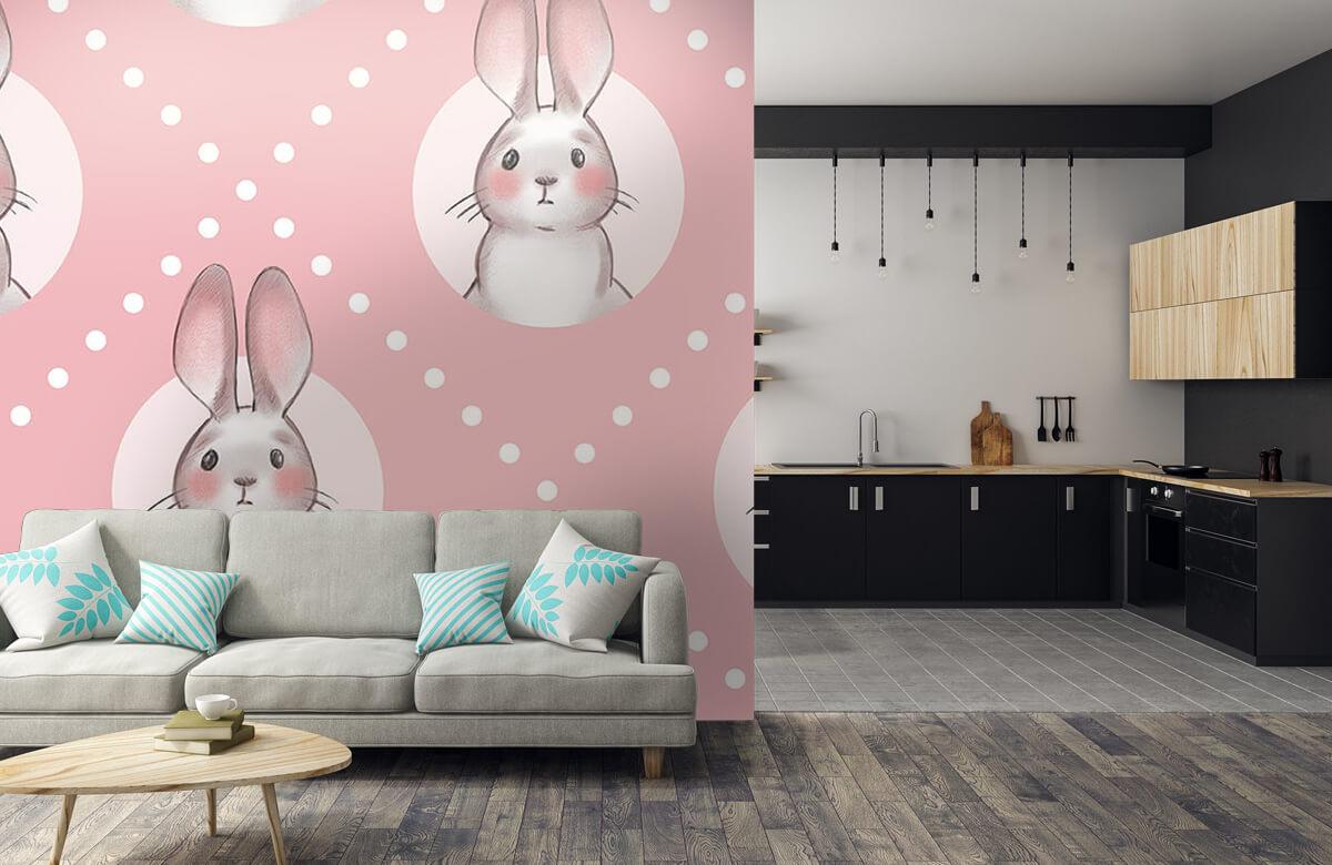 Pattern Rosa kaninmönster 10