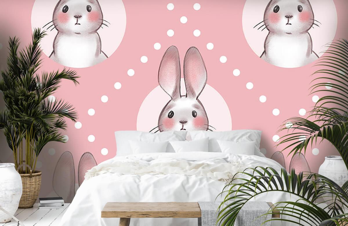 Pattern Rosa kaninmönster 7
