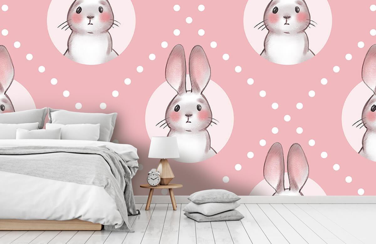 Pattern Rosa kaninmönster 2