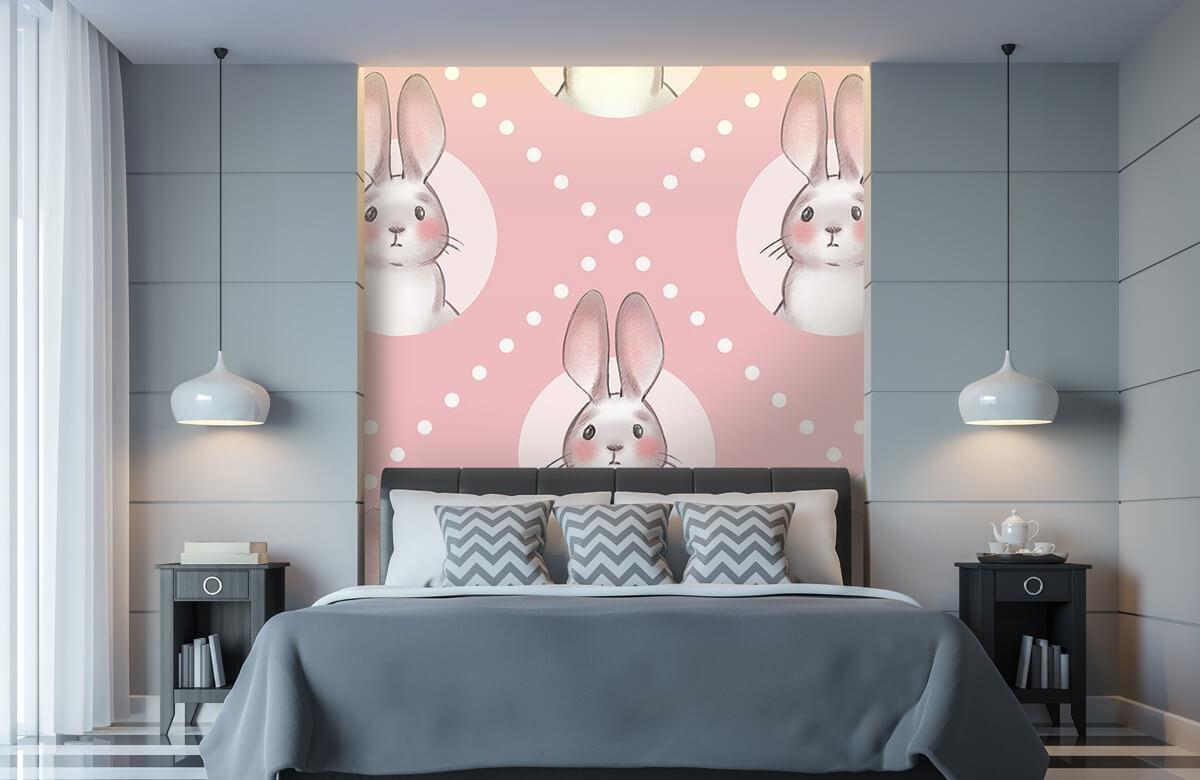Pattern Rosa kaninmönster 11