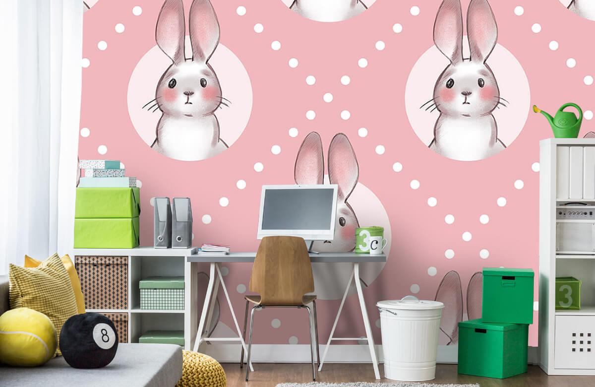 Pattern Rosa kaninmönster 4