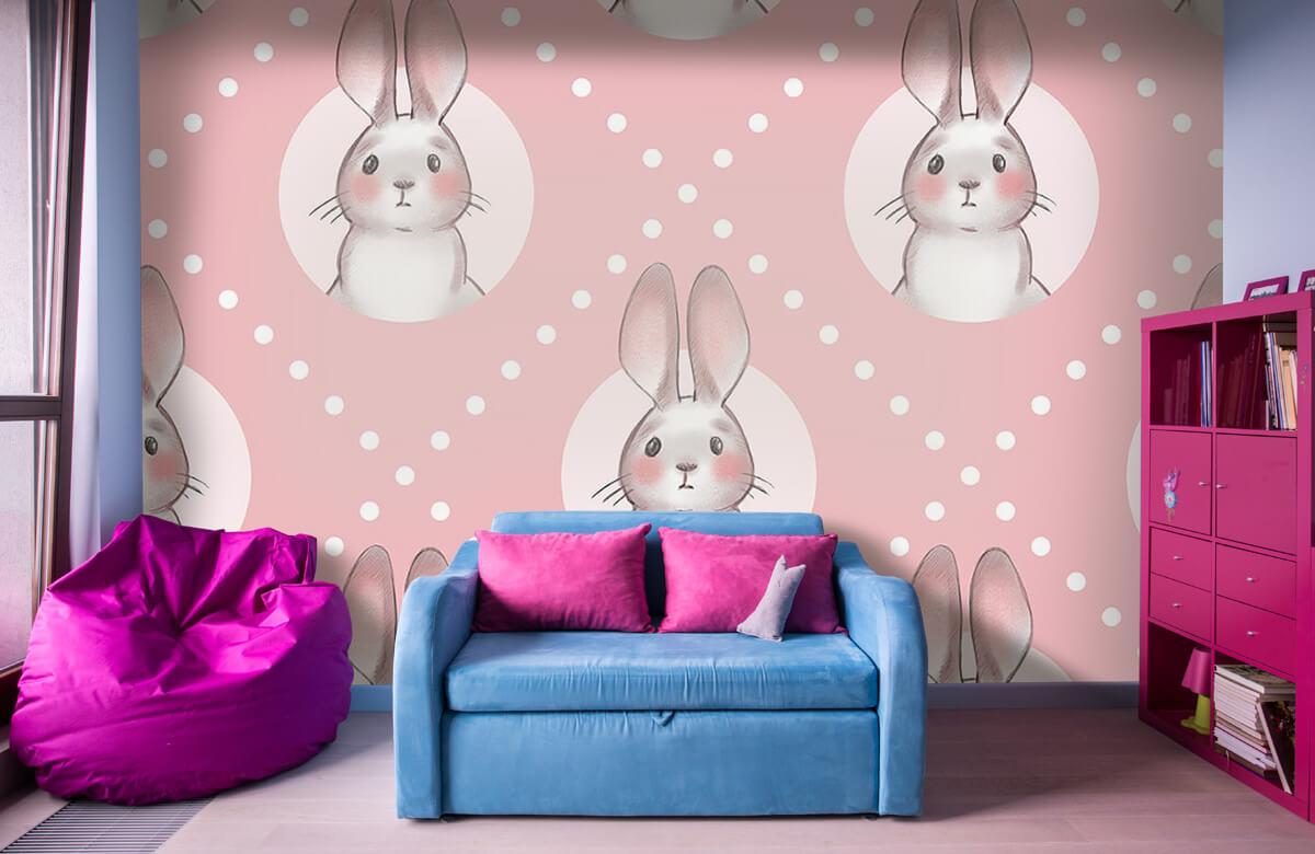 Pattern Rosa kaninmönster 1