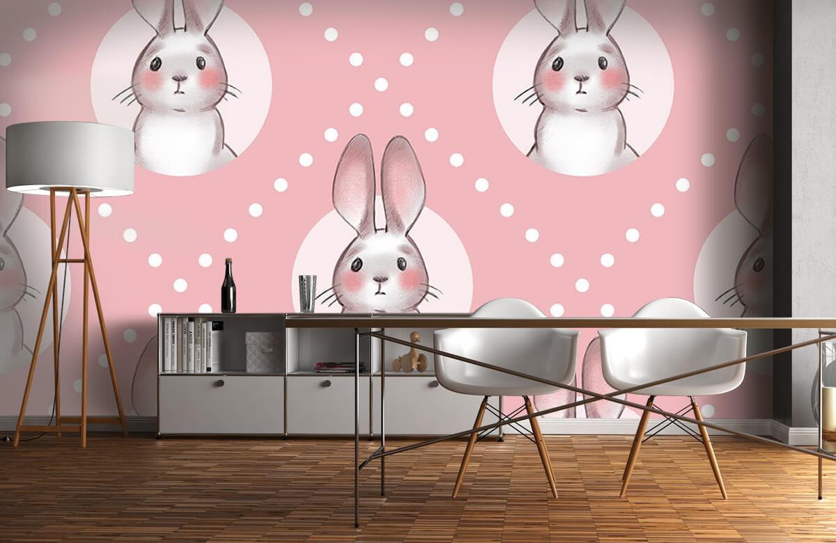 Pattern Rosa kaninmönster 5