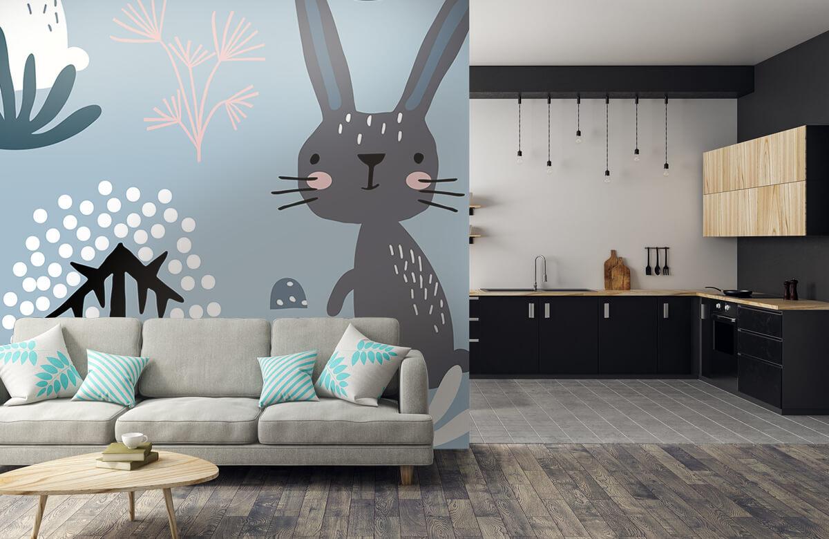 Pattern Blå kanin mönster 8