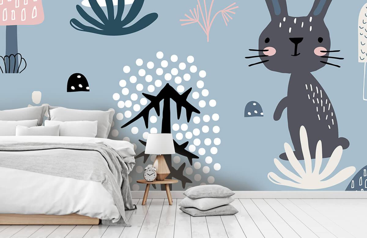 Pattern Blå kanin mönster 11