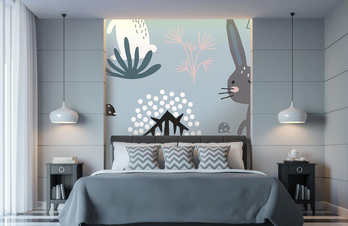 Pattern Blå kanin mönster 6