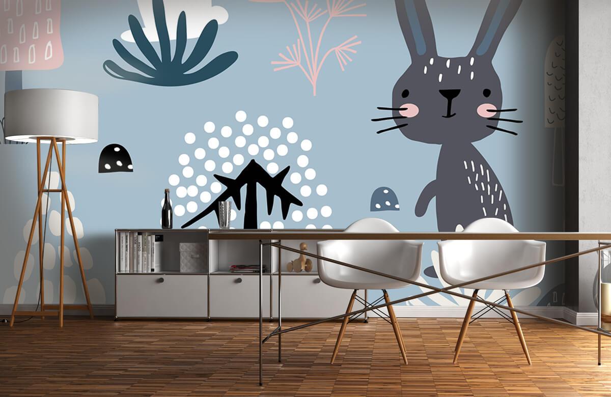 Pattern Blå kanin mönster 10