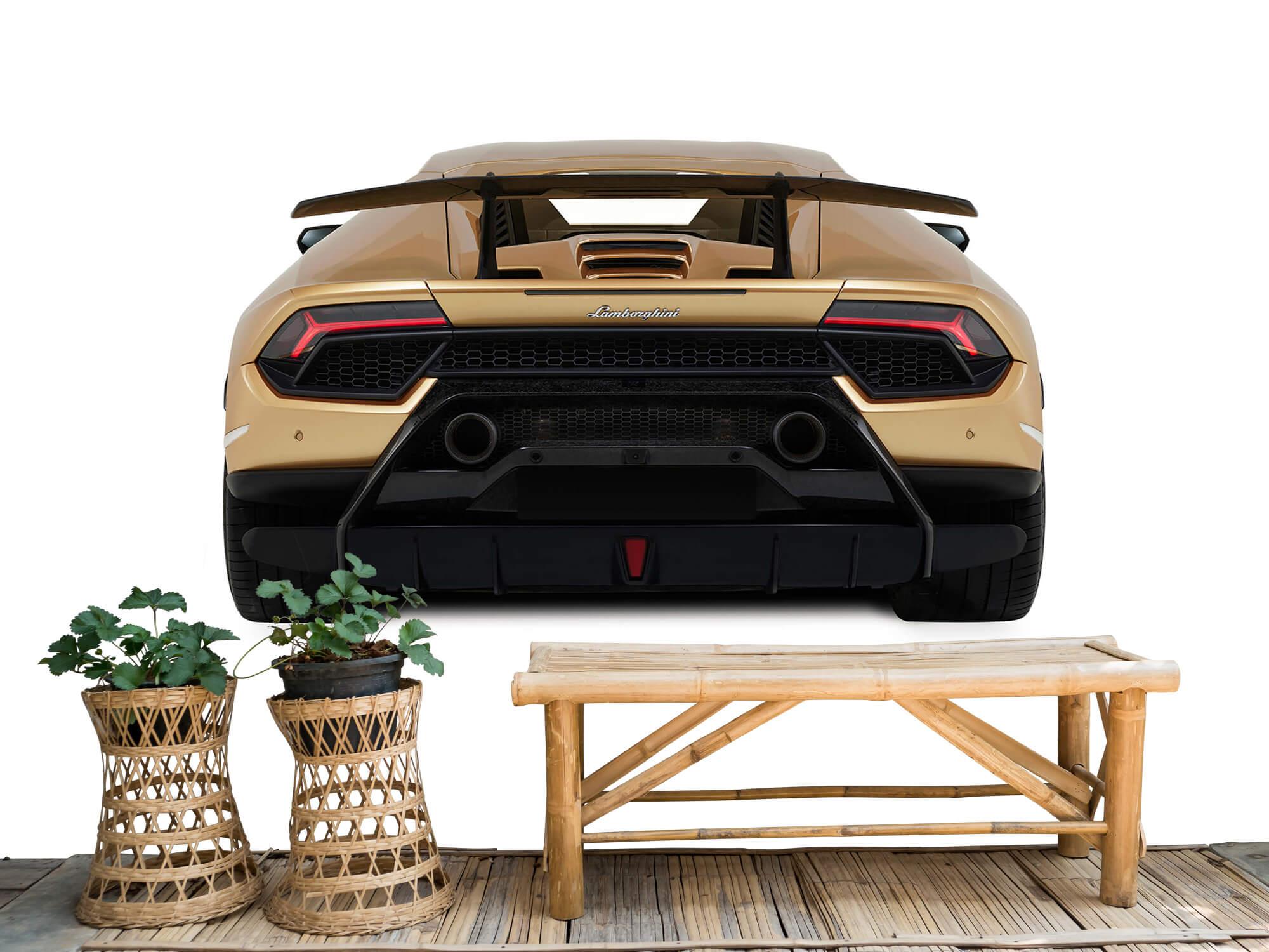 Wallpaper Lamborghini Huracán - Bak, vit 4