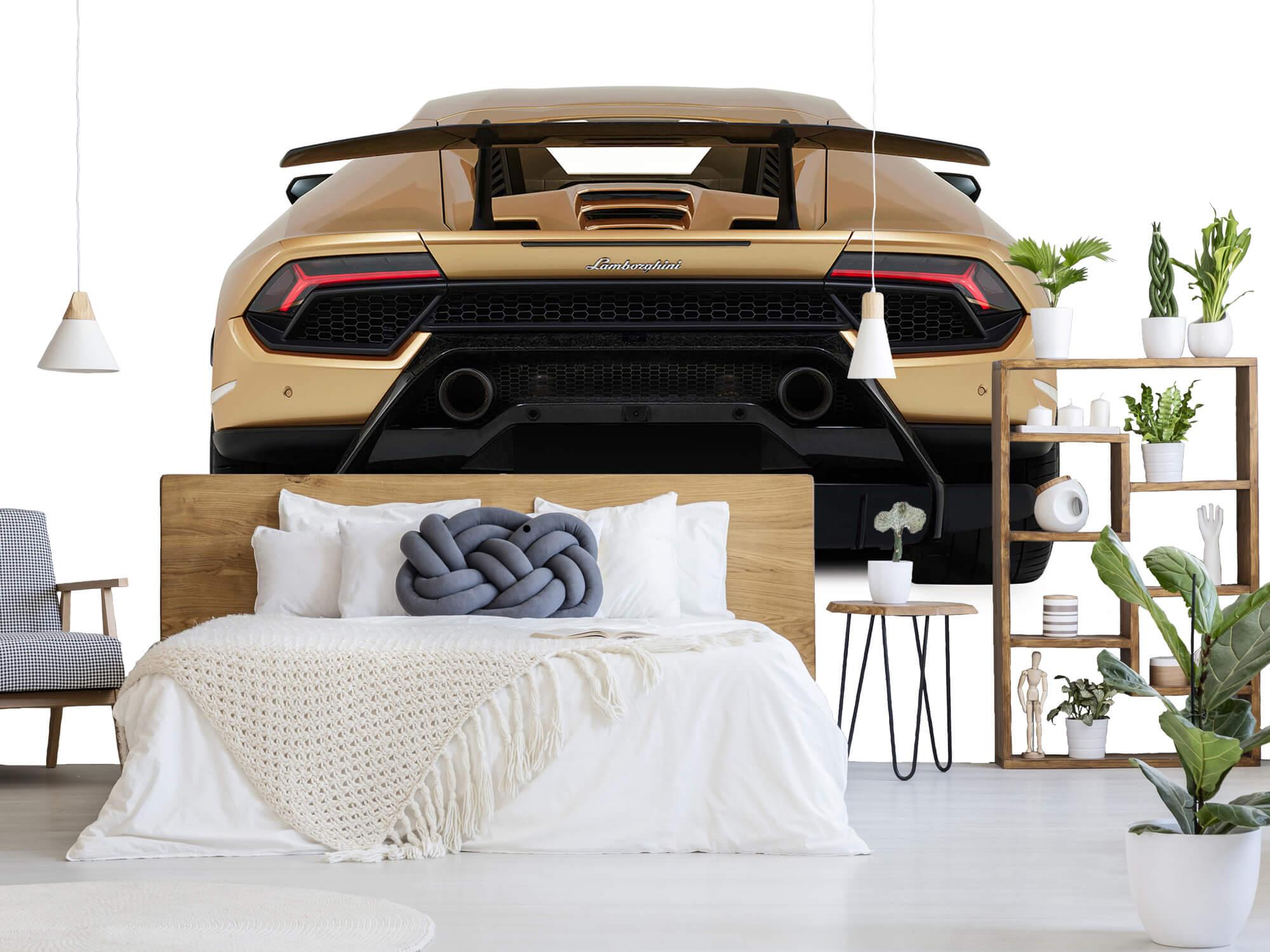 Wallpaper Lamborghini Huracán - Bak, vit 6