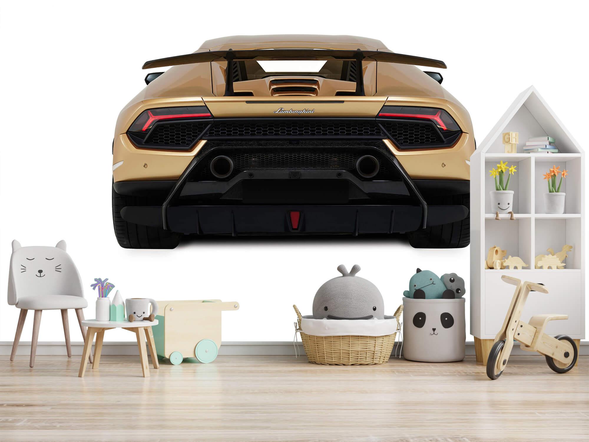 Wallpaper Lamborghini Huracán - Bak, vit 8