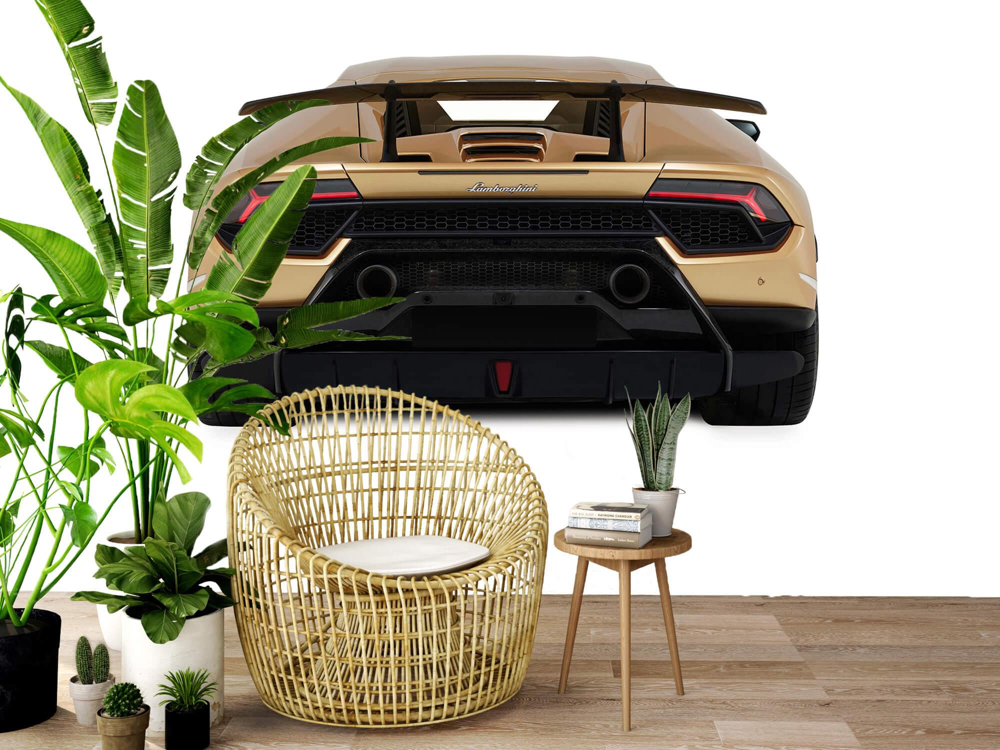 Wallpaper Lamborghini Huracán - Bak, vit 7
