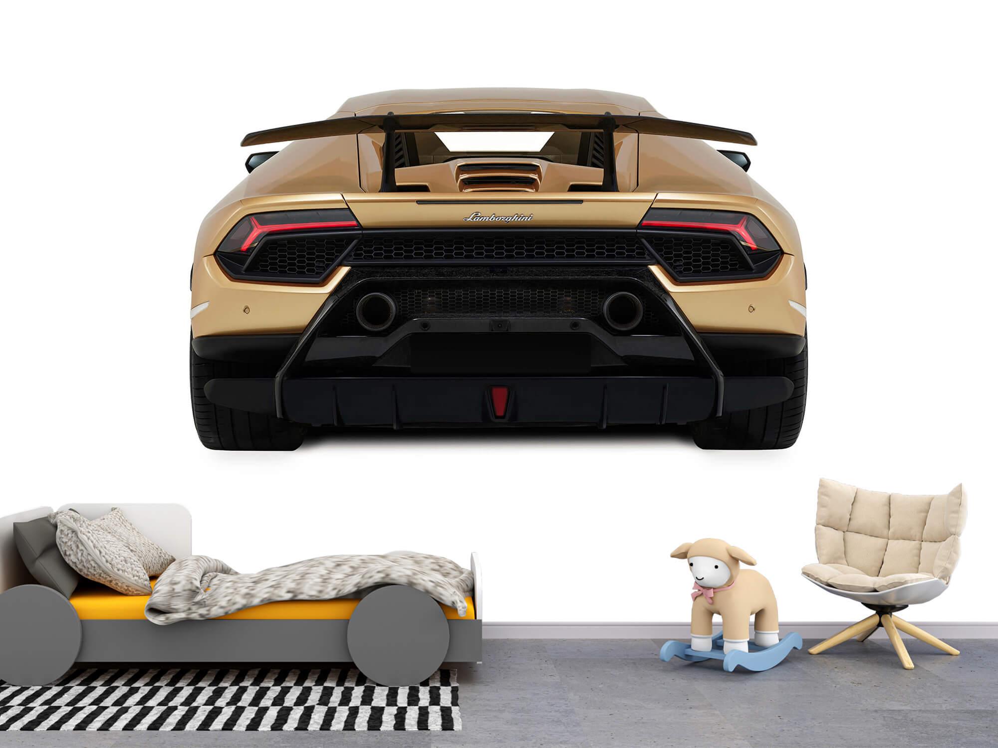 Wallpaper Lamborghini Huracán - Bak, vit 1