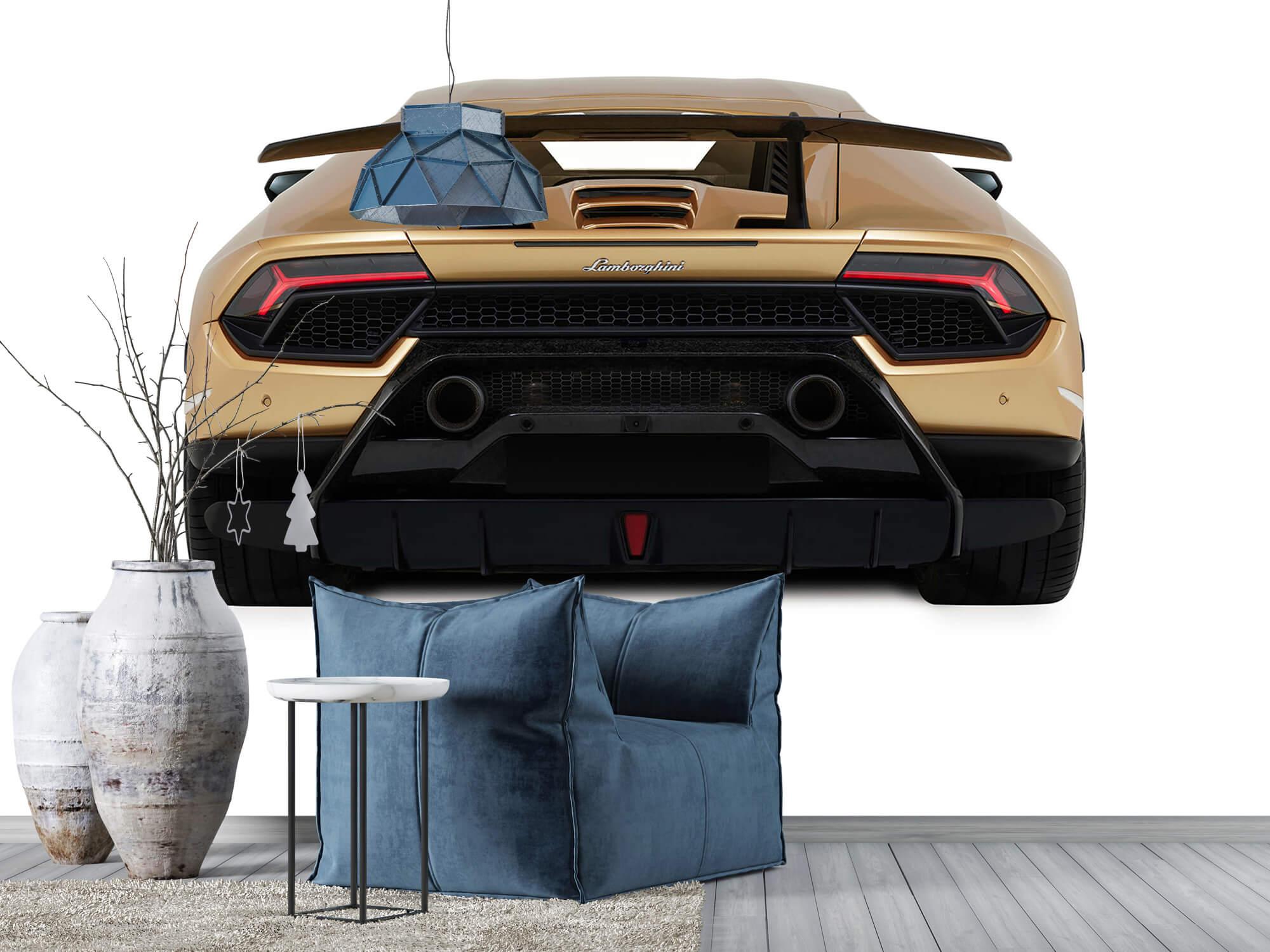 Wallpaper Lamborghini Huracán - Bak, vit 9