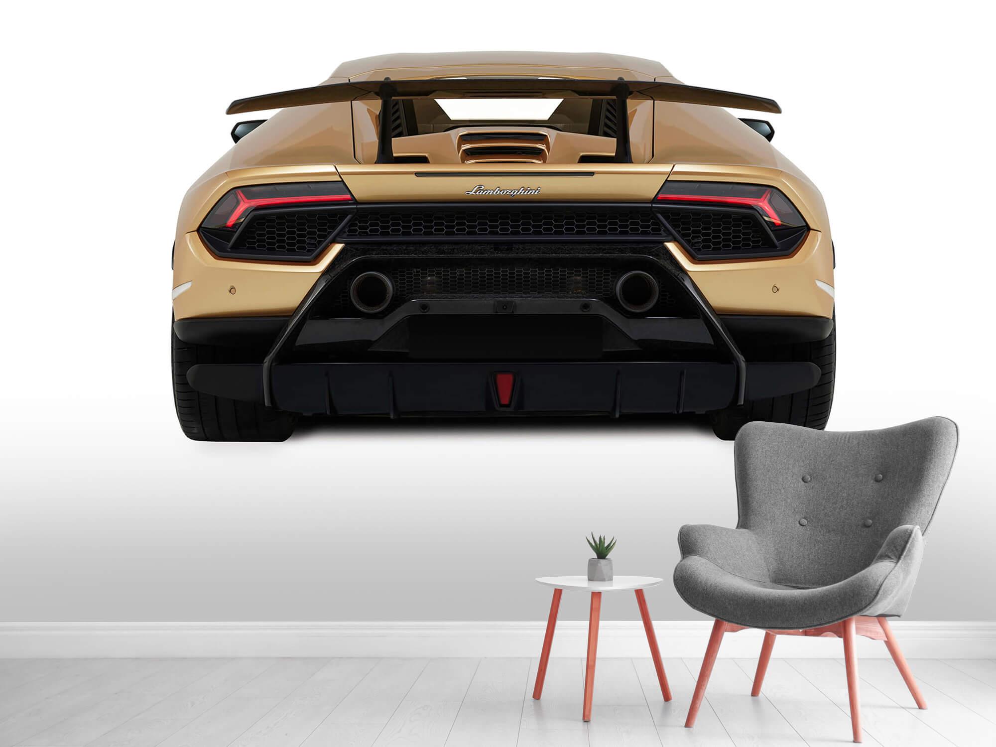 Wallpaper Lamborghini Huracán - Bak, vit 5
