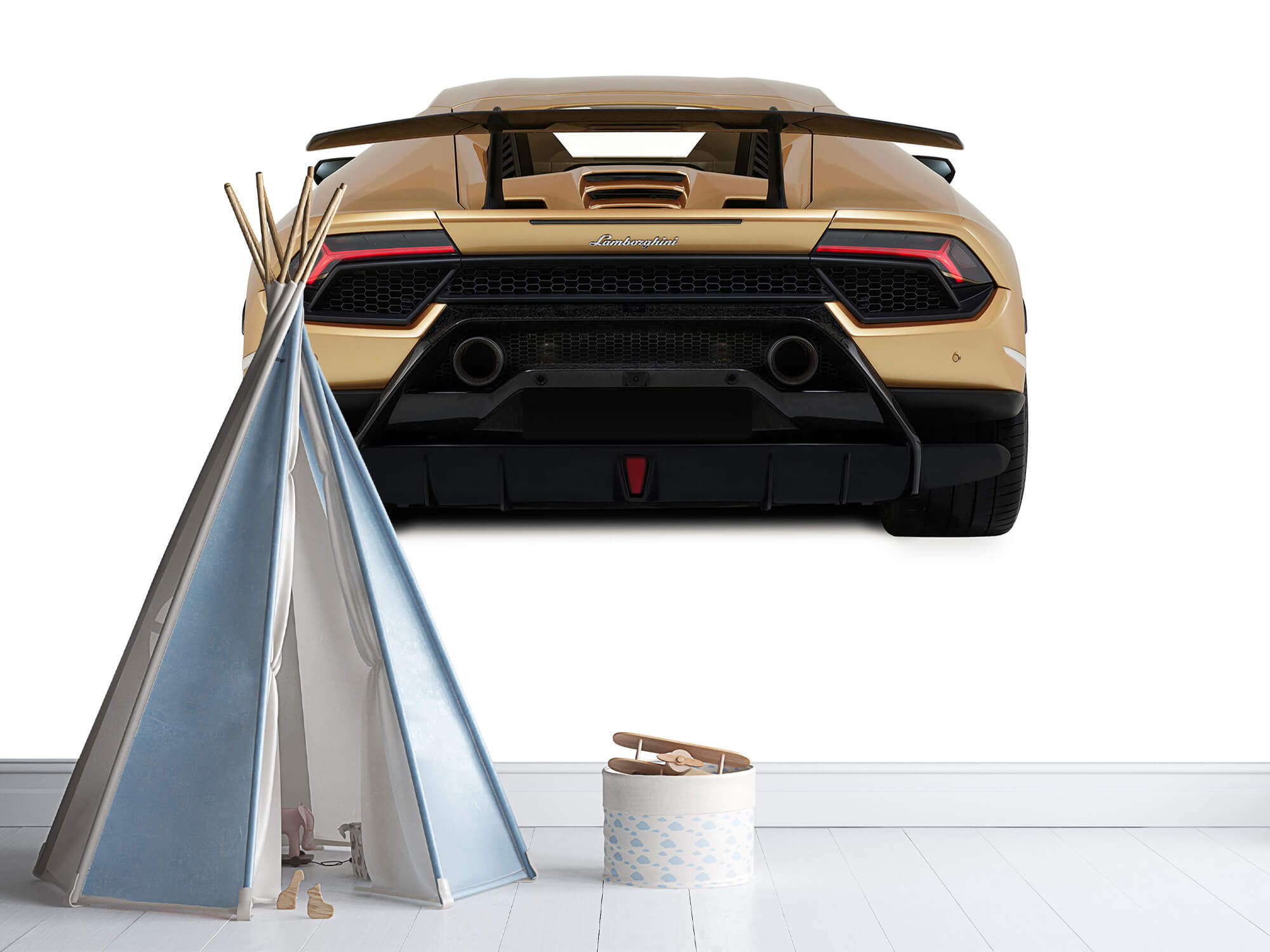 Wallpaper Lamborghini Huracán - Bak, vit 11