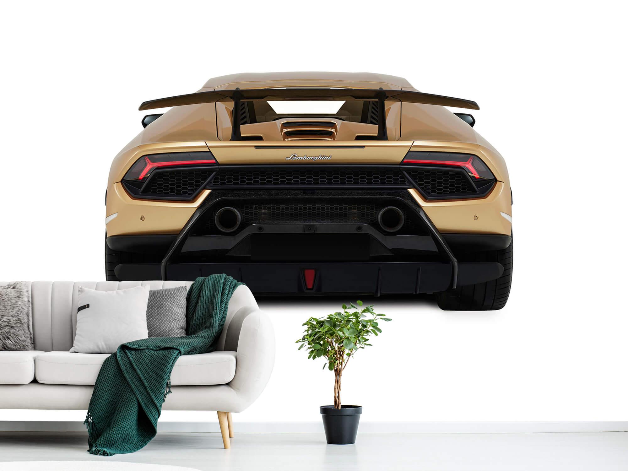Wallpaper Lamborghini Huracán - Bak, vit 2