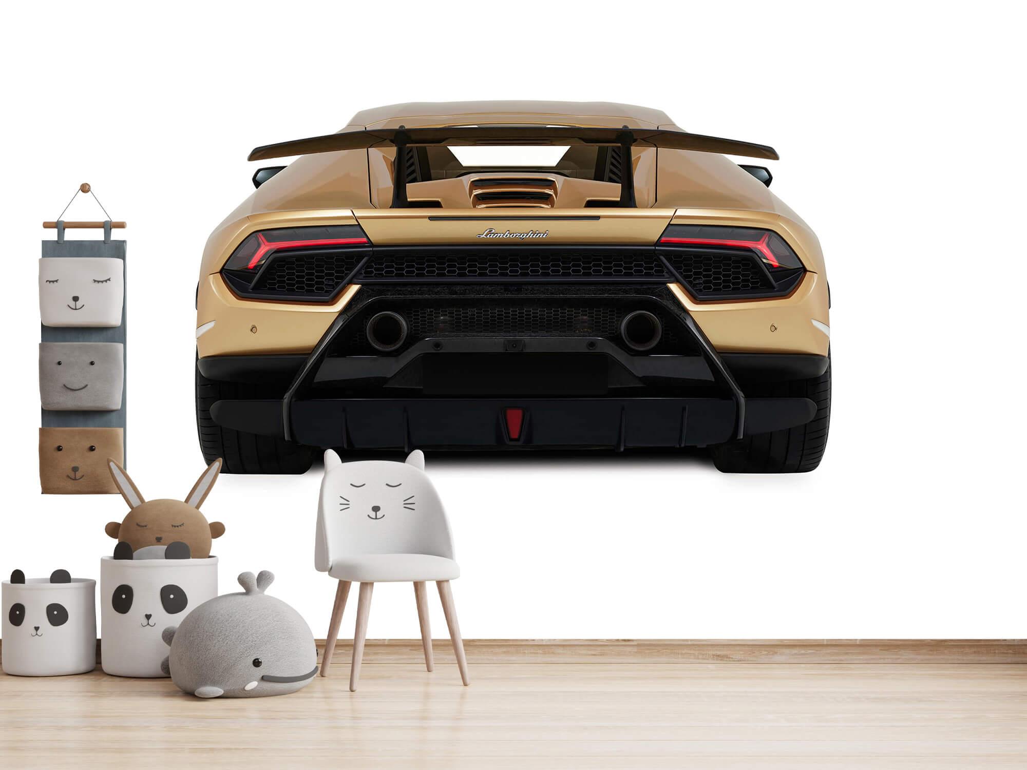 Wallpaper Lamborghini Huracán - Bak, vit 13