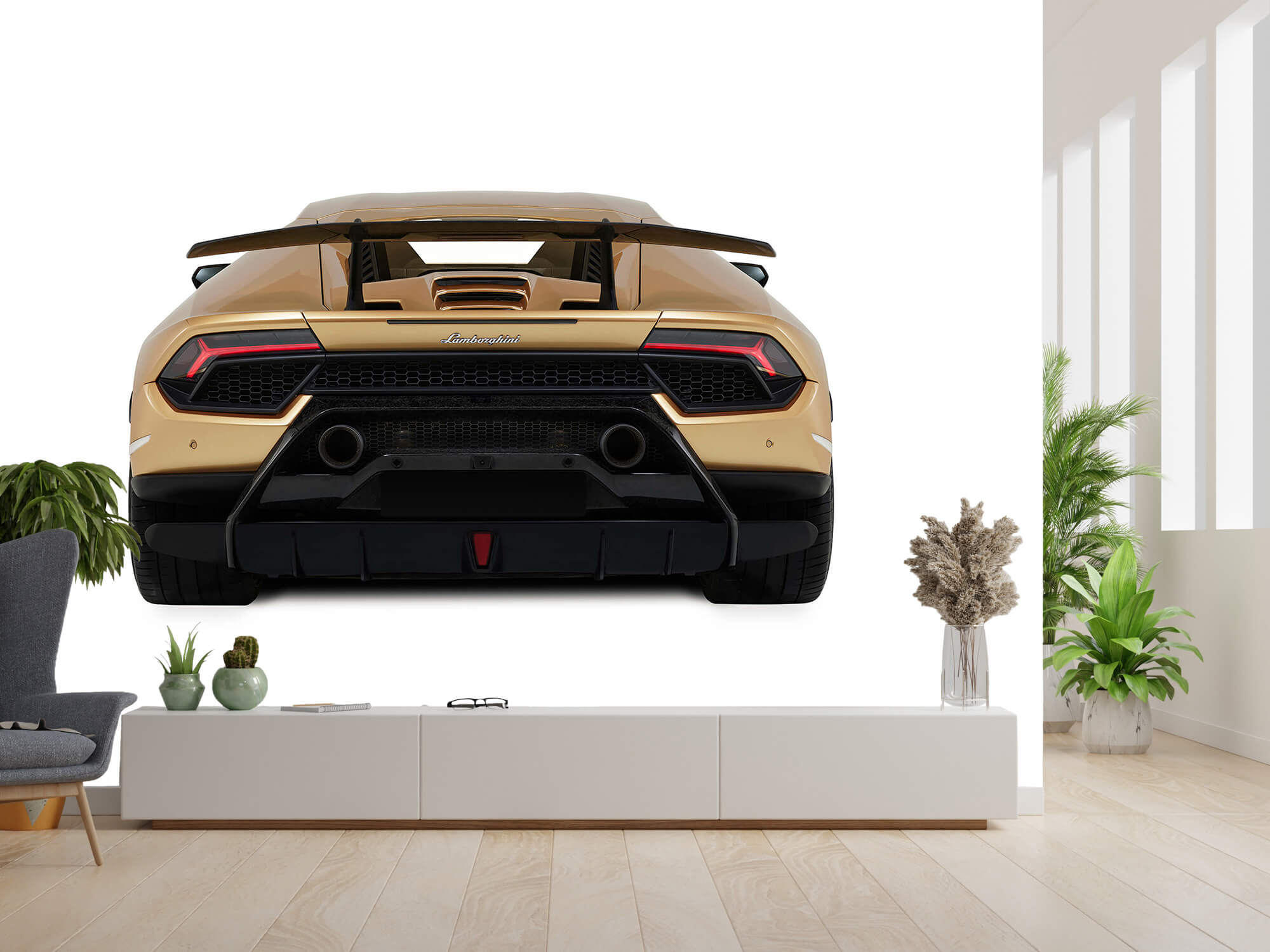 Wallpaper Lamborghini Huracán - Bak, vit 14