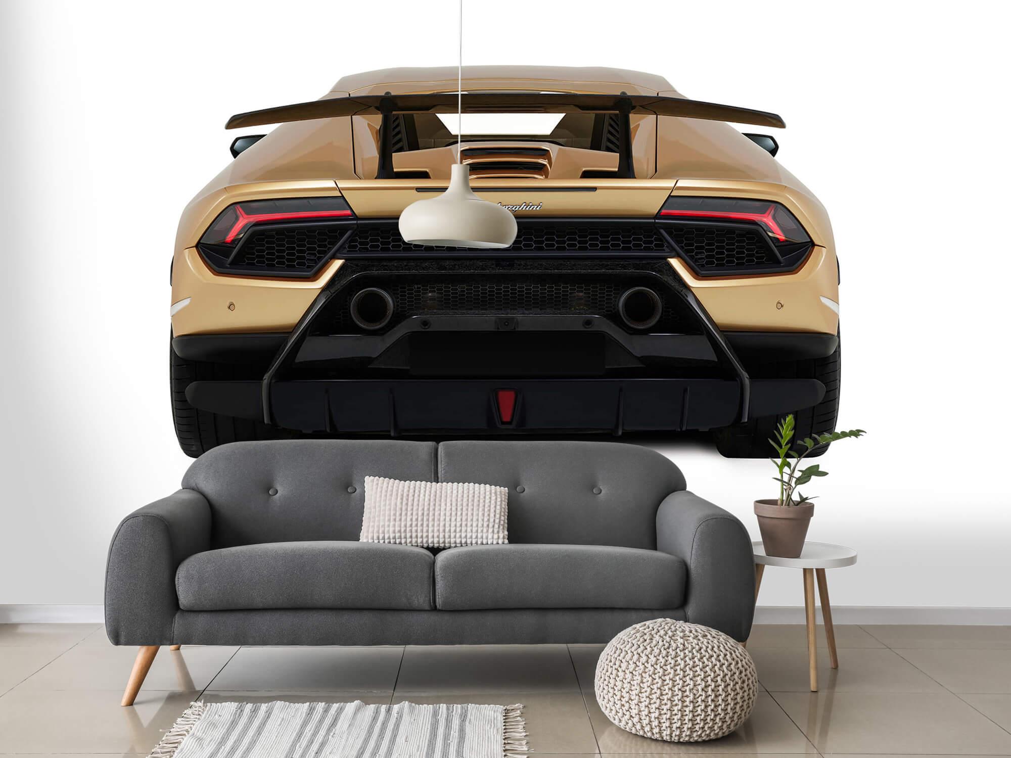 Wallpaper Lamborghini Huracán - Bak, vit 3