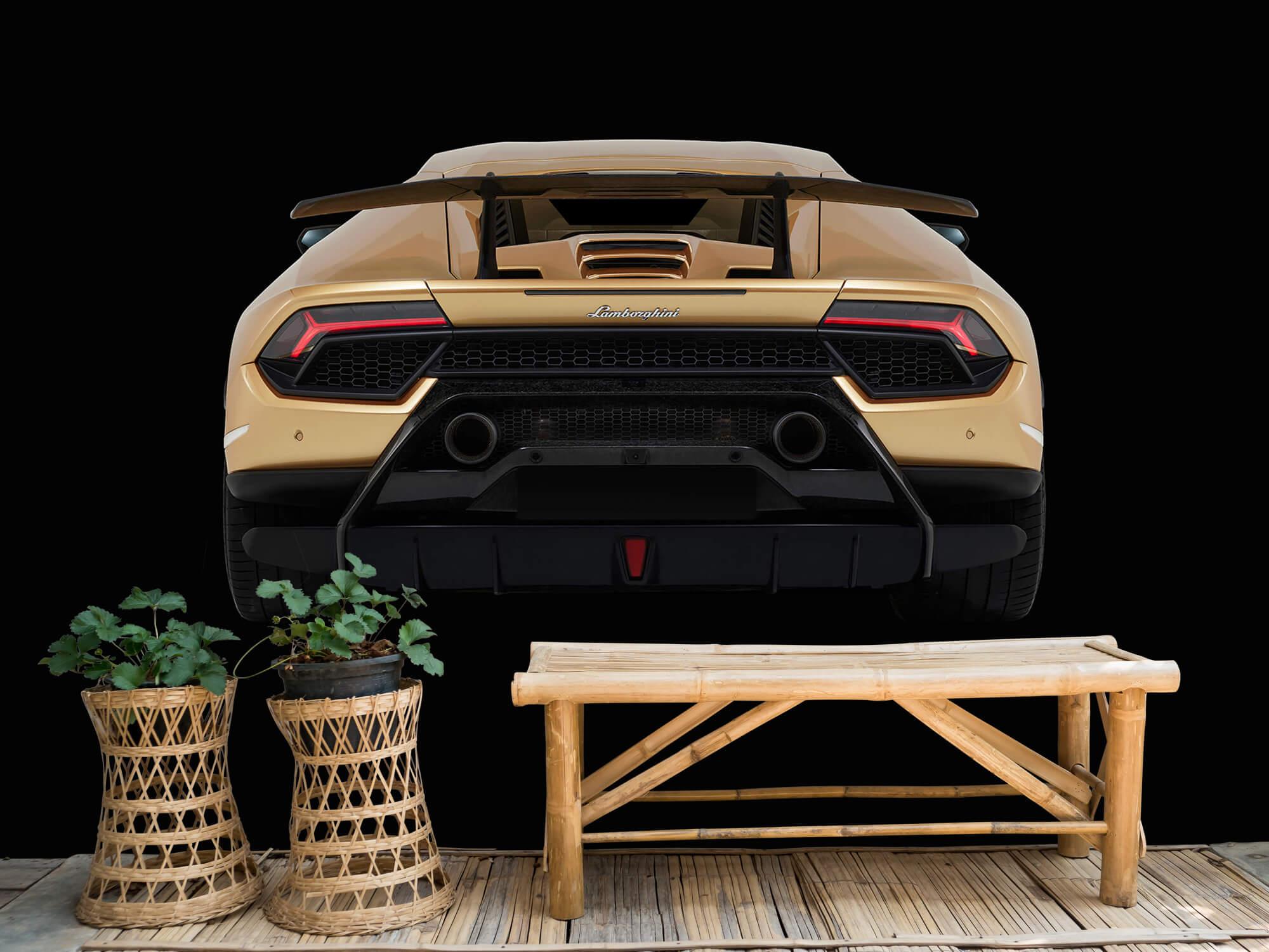 Wallpaper Lamborghini Huracán - Bak, svart 3