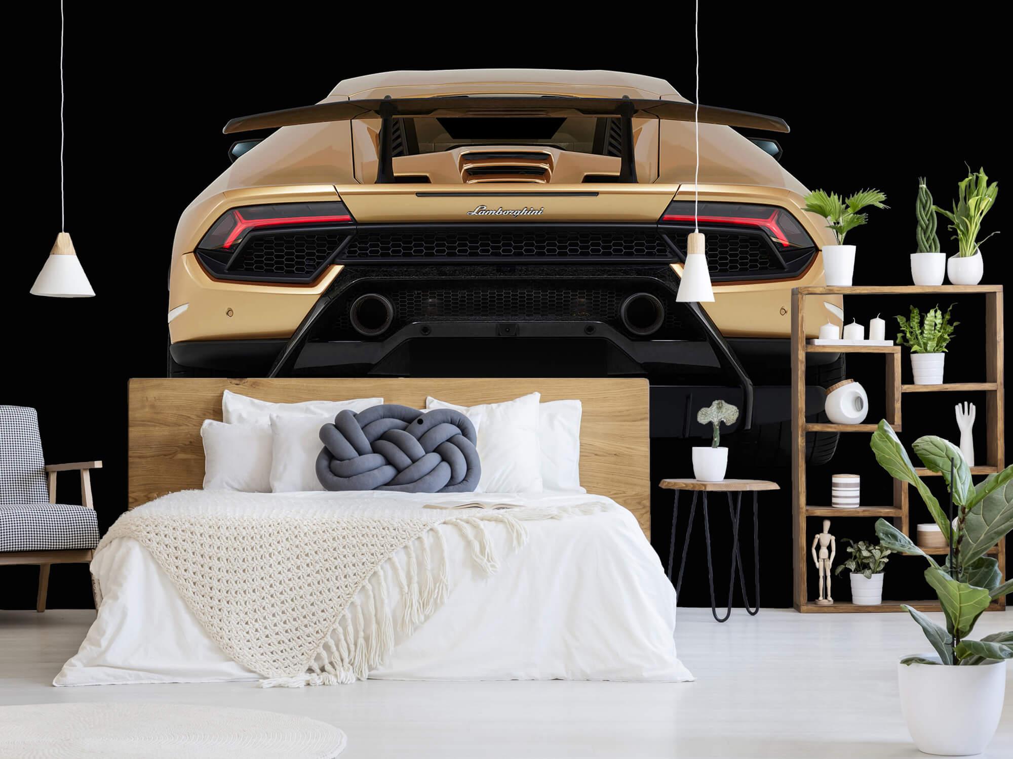 Wallpaper Lamborghini Huracán - Bak, svart 1