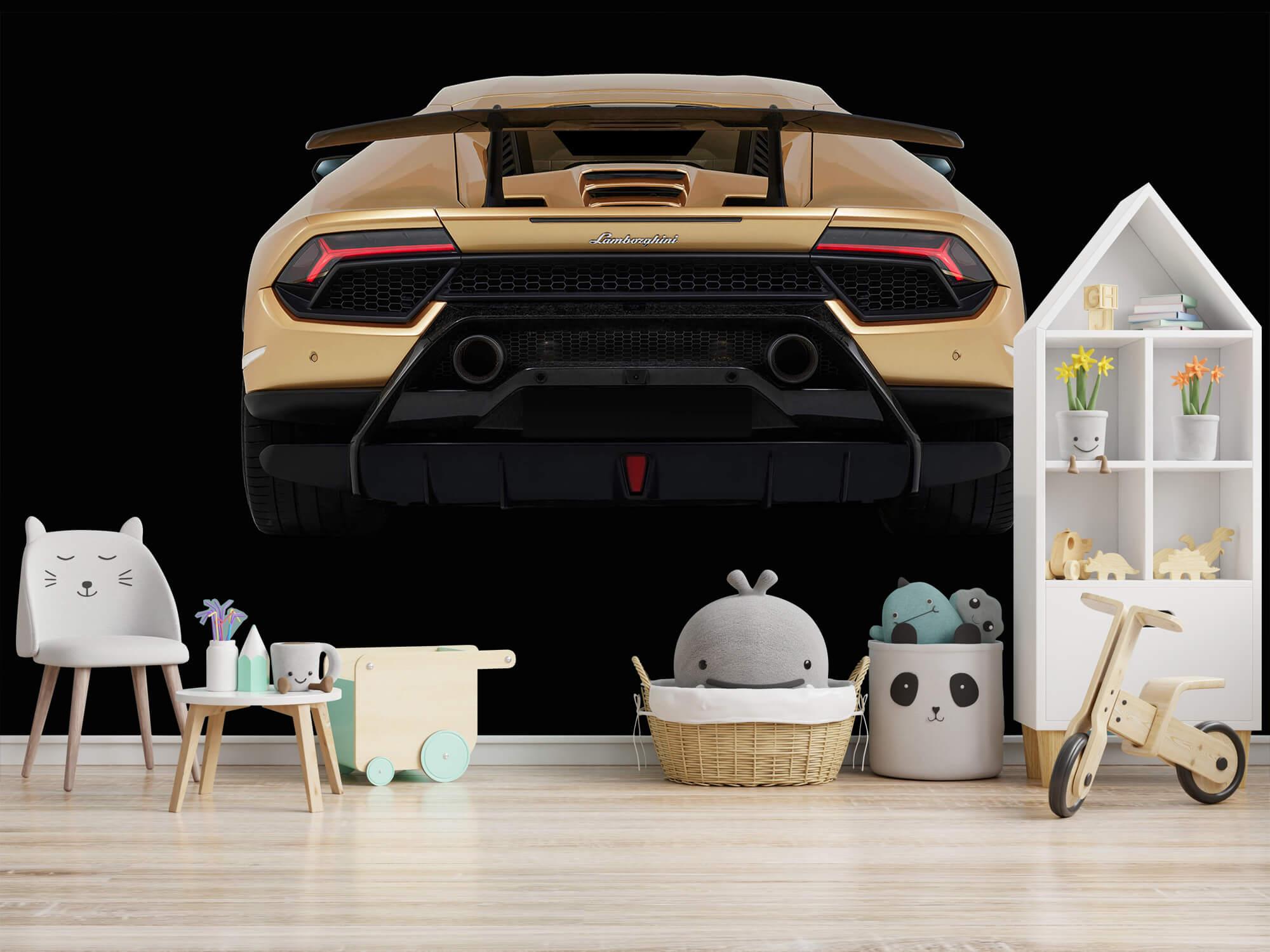 Wallpaper Lamborghini Huracán - Bak, svart 5