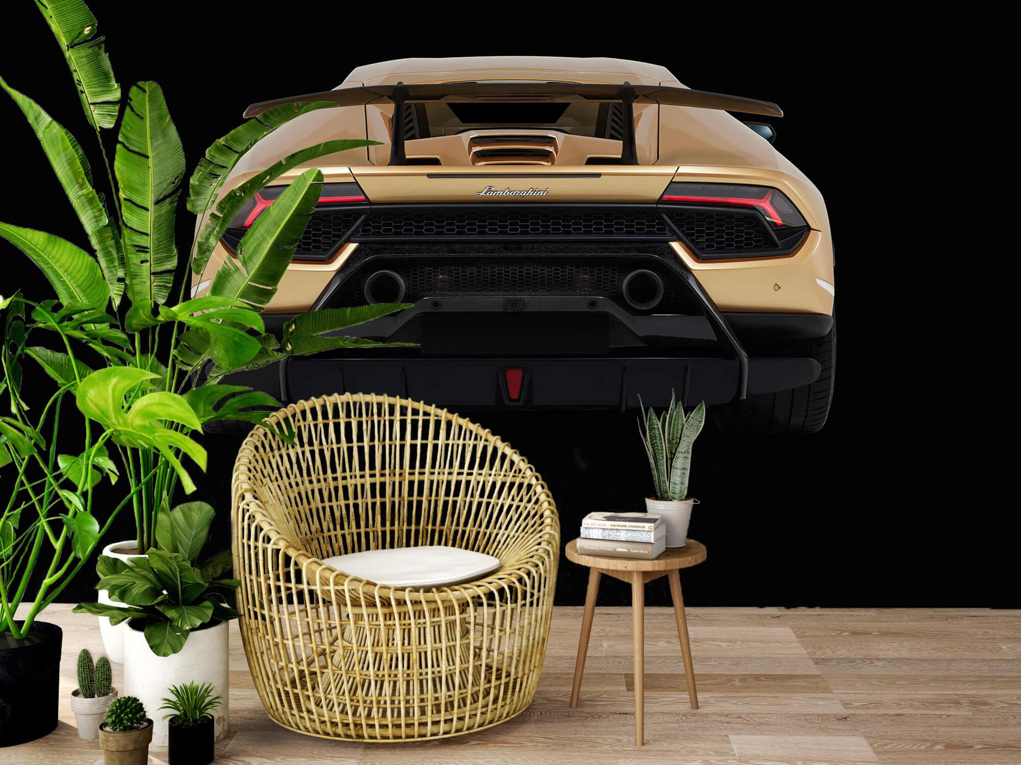 Wallpaper Lamborghini Huracán - Bak, svart 6