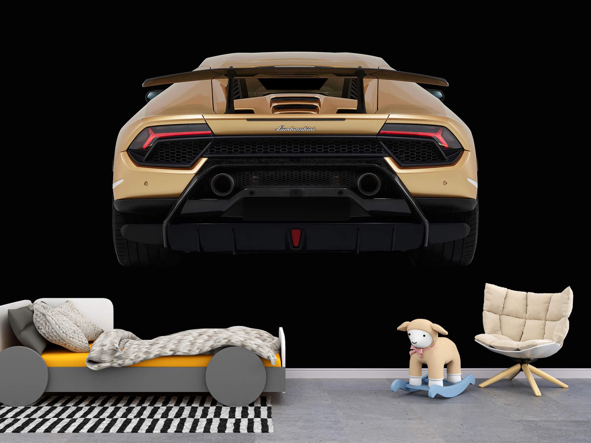 Wallpaper Lamborghini Huracán - Bak, svart 4