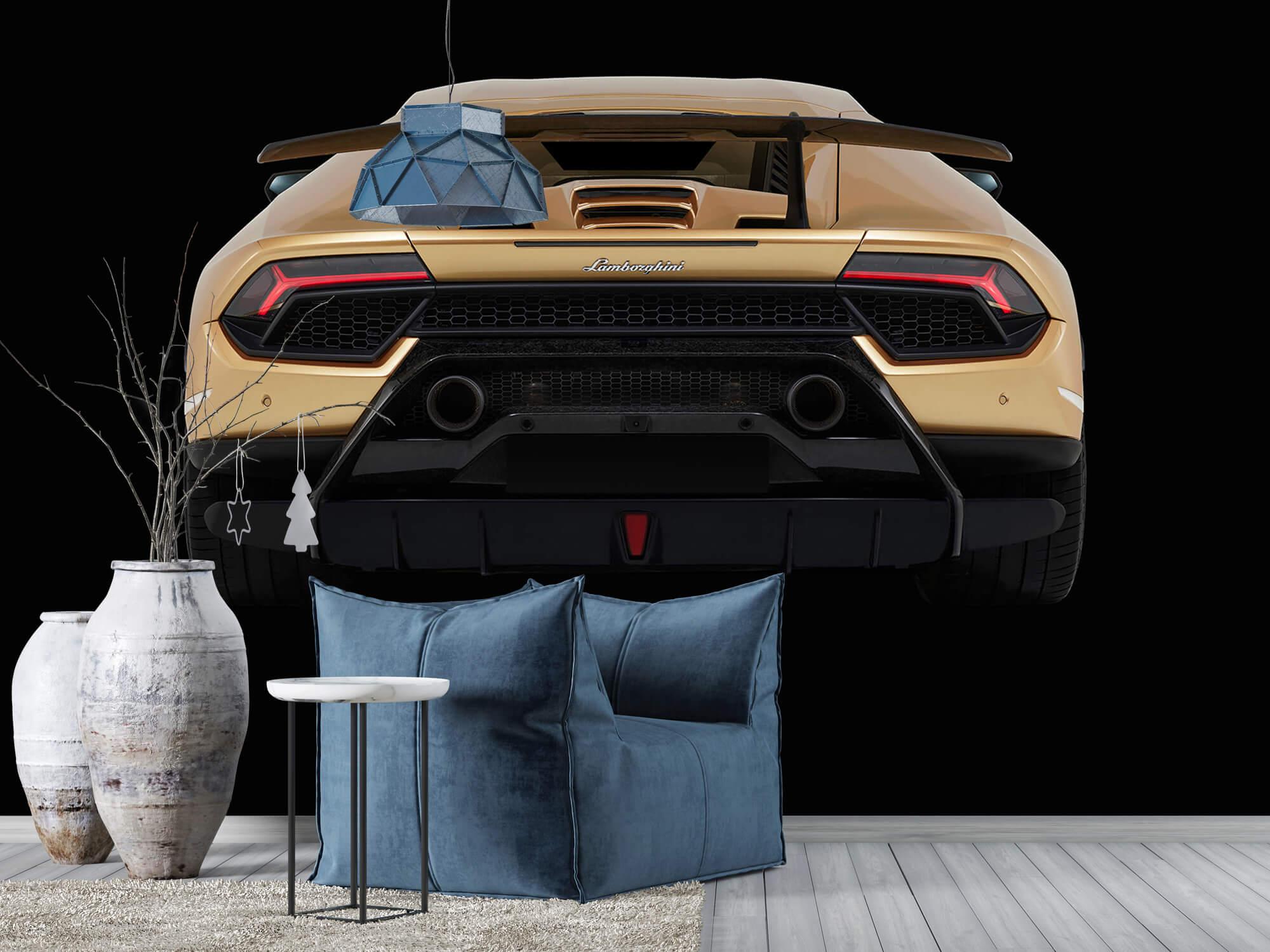 Wallpaper Lamborghini Huracán - Bak, svart 8