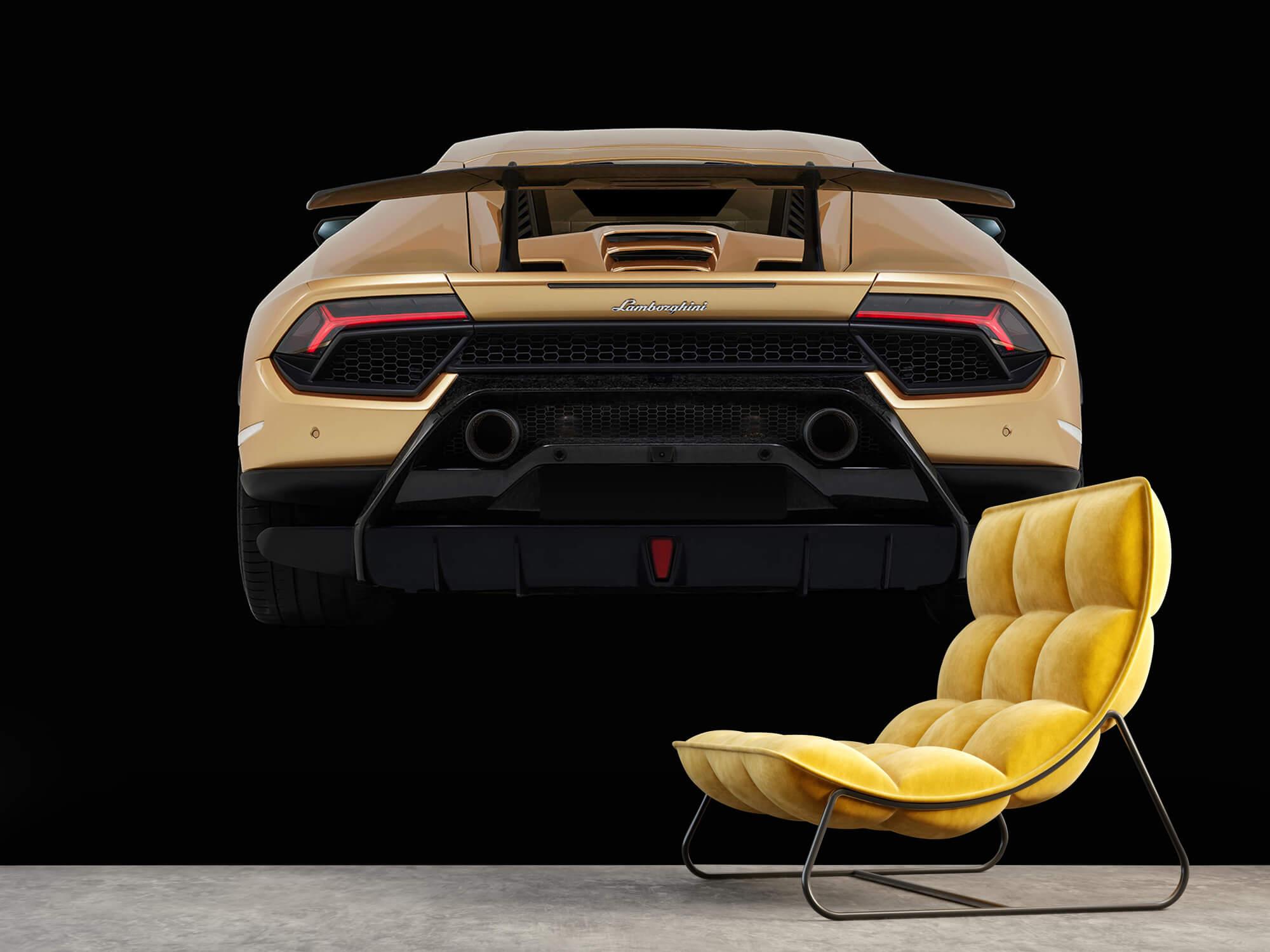 Wallpaper Lamborghini Huracán - Bak, svart 10