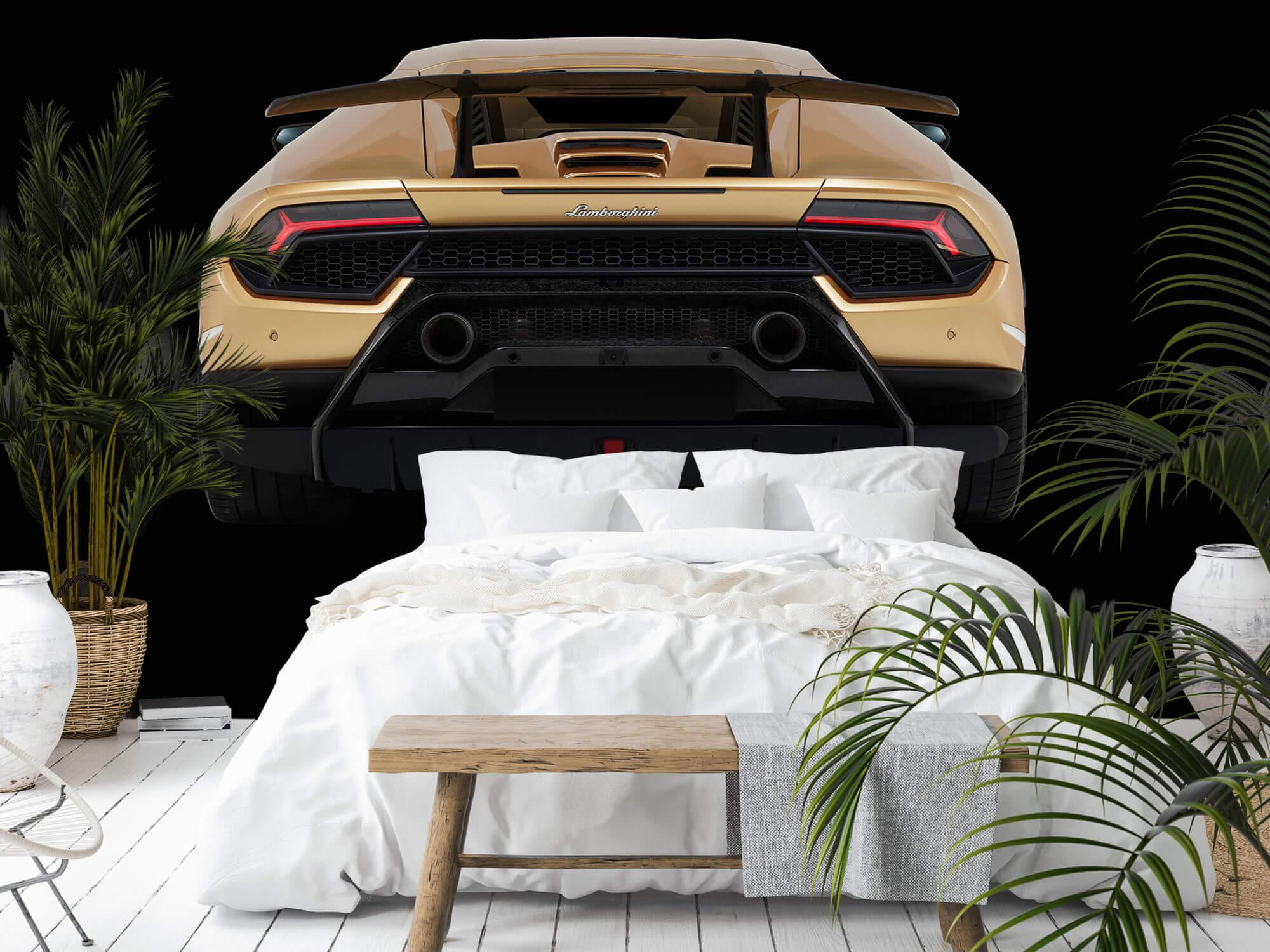 Wallpaper Lamborghini Huracán - Bak, svart 9