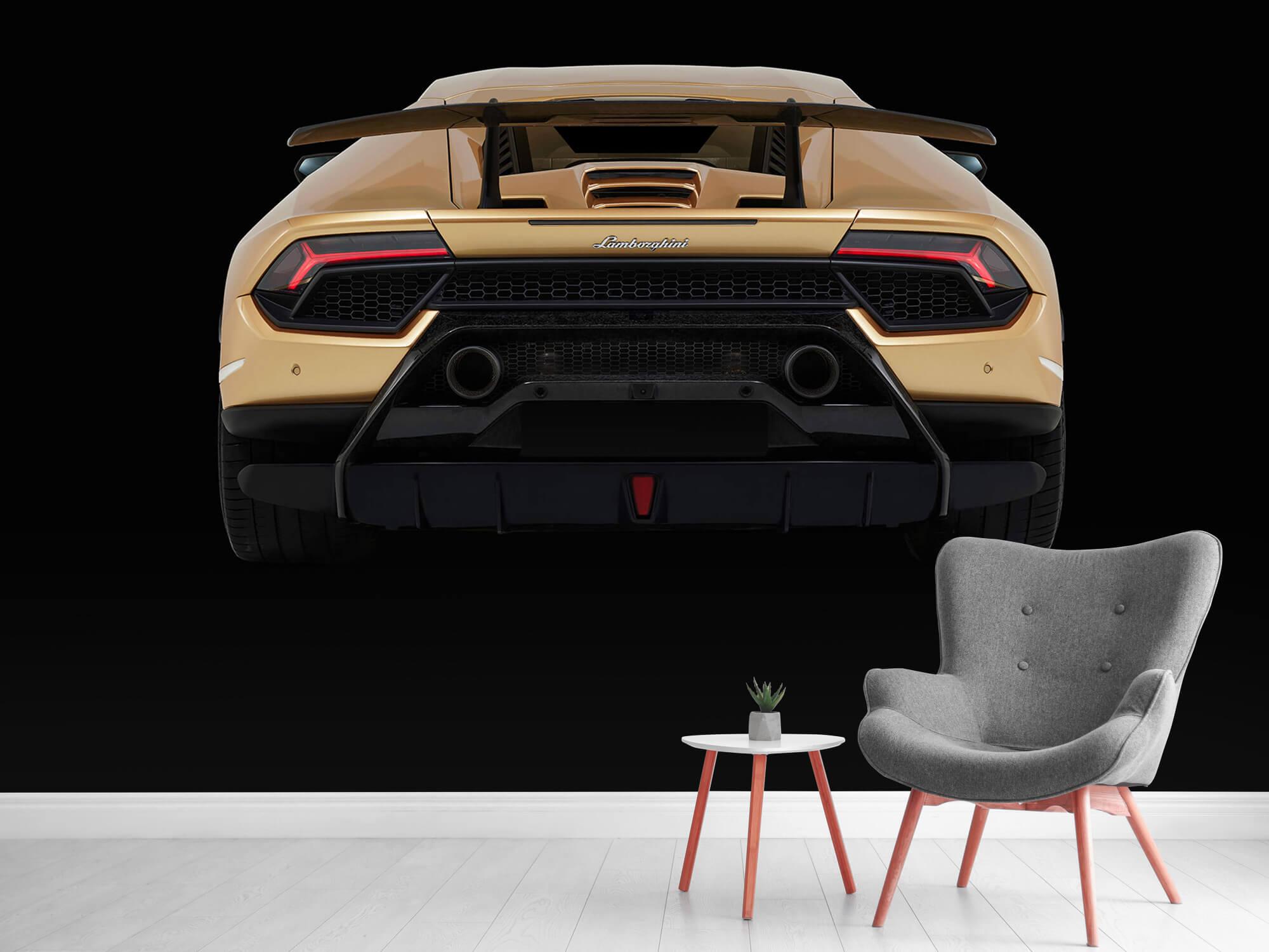 Wallpaper Lamborghini Huracán - Bak, svart 11