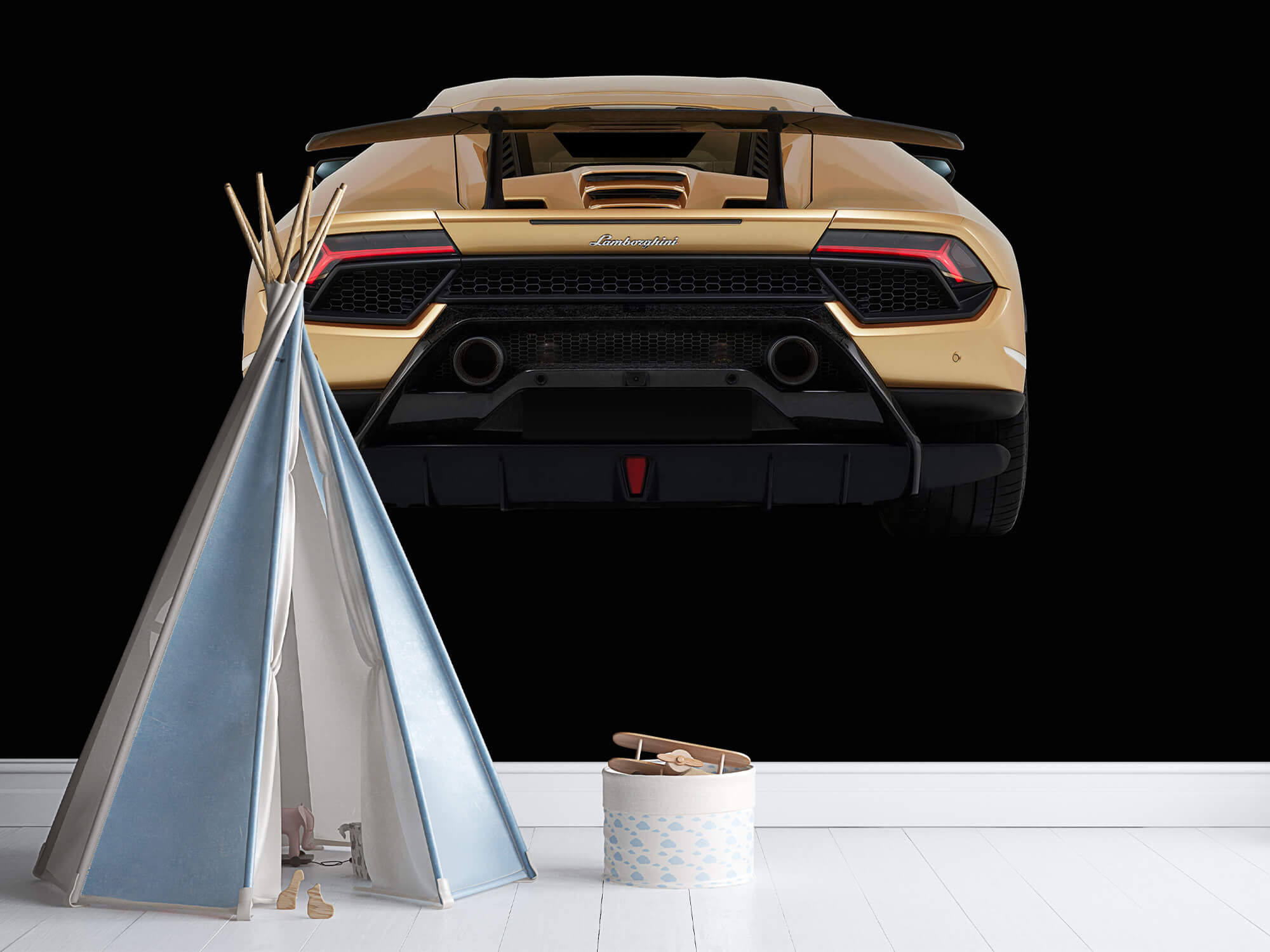 Wallpaper Lamborghini Huracán - Bak, svart 7