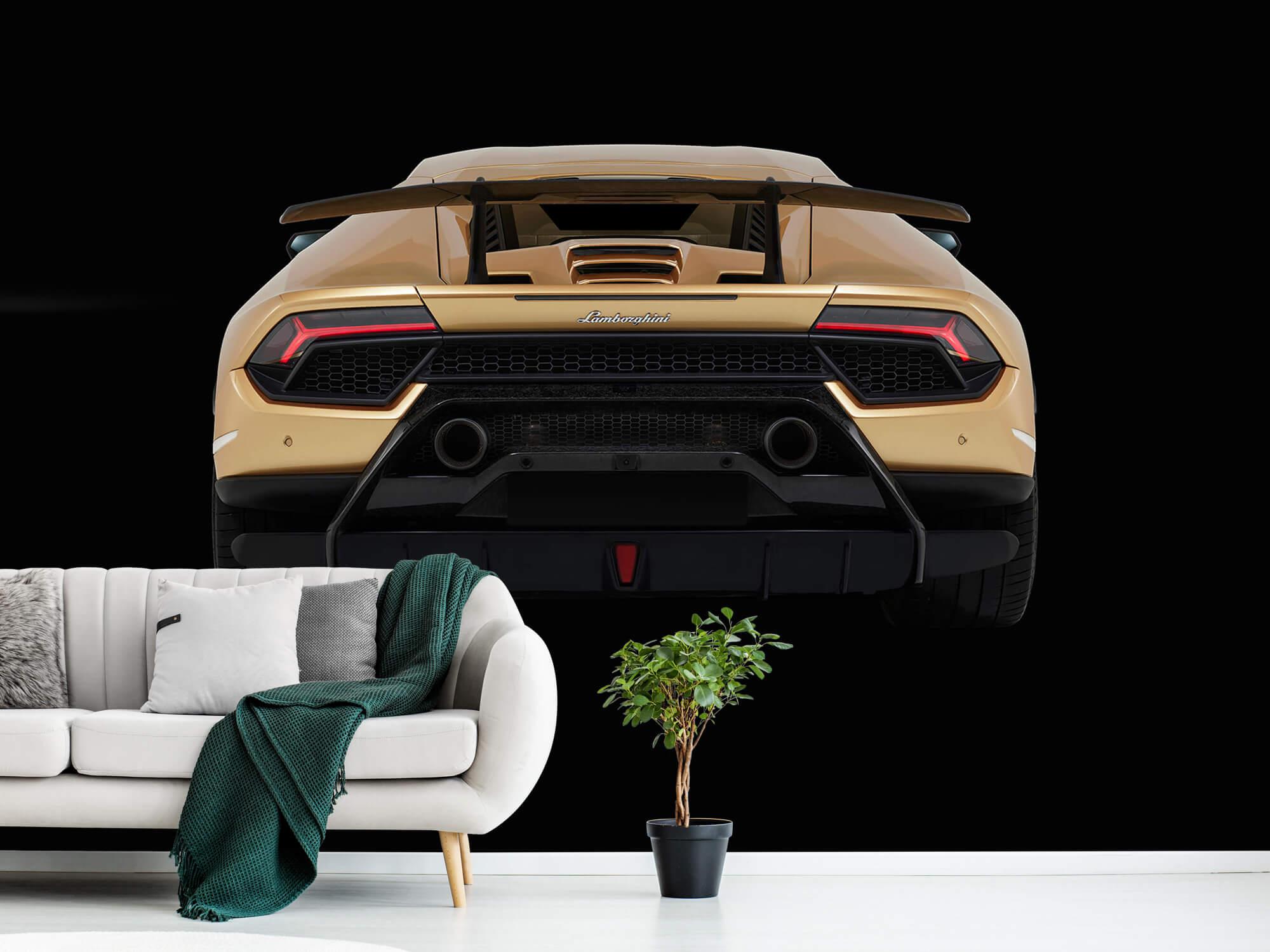 Wallpaper Lamborghini Huracán - Bak, svart 12