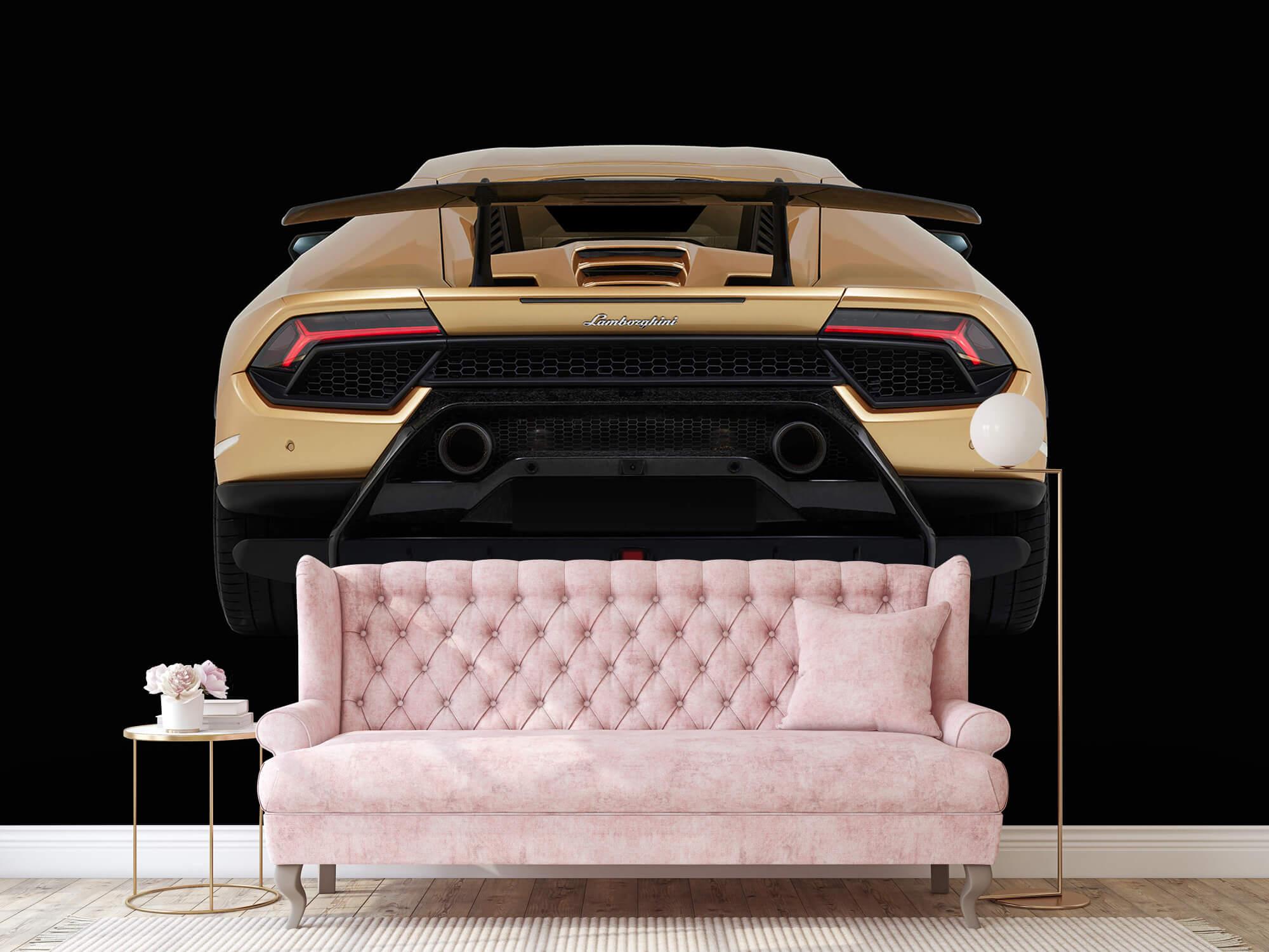 Wallpaper Lamborghini Huracán - Bak, svart 13