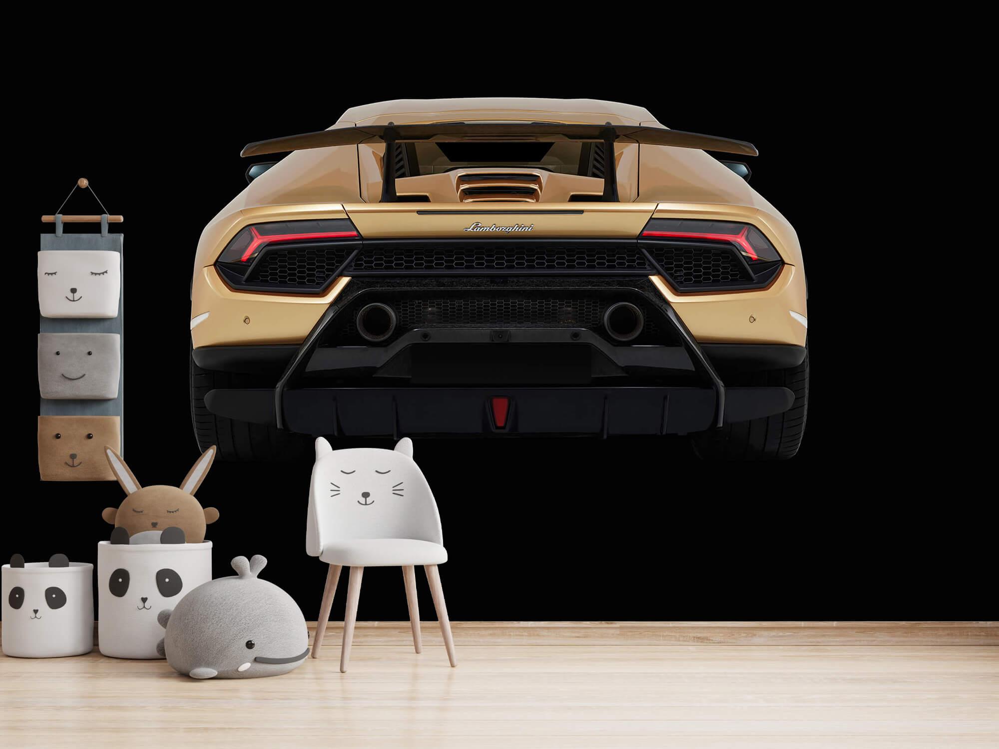 Wallpaper Lamborghini Huracán - Bak, svart 14
