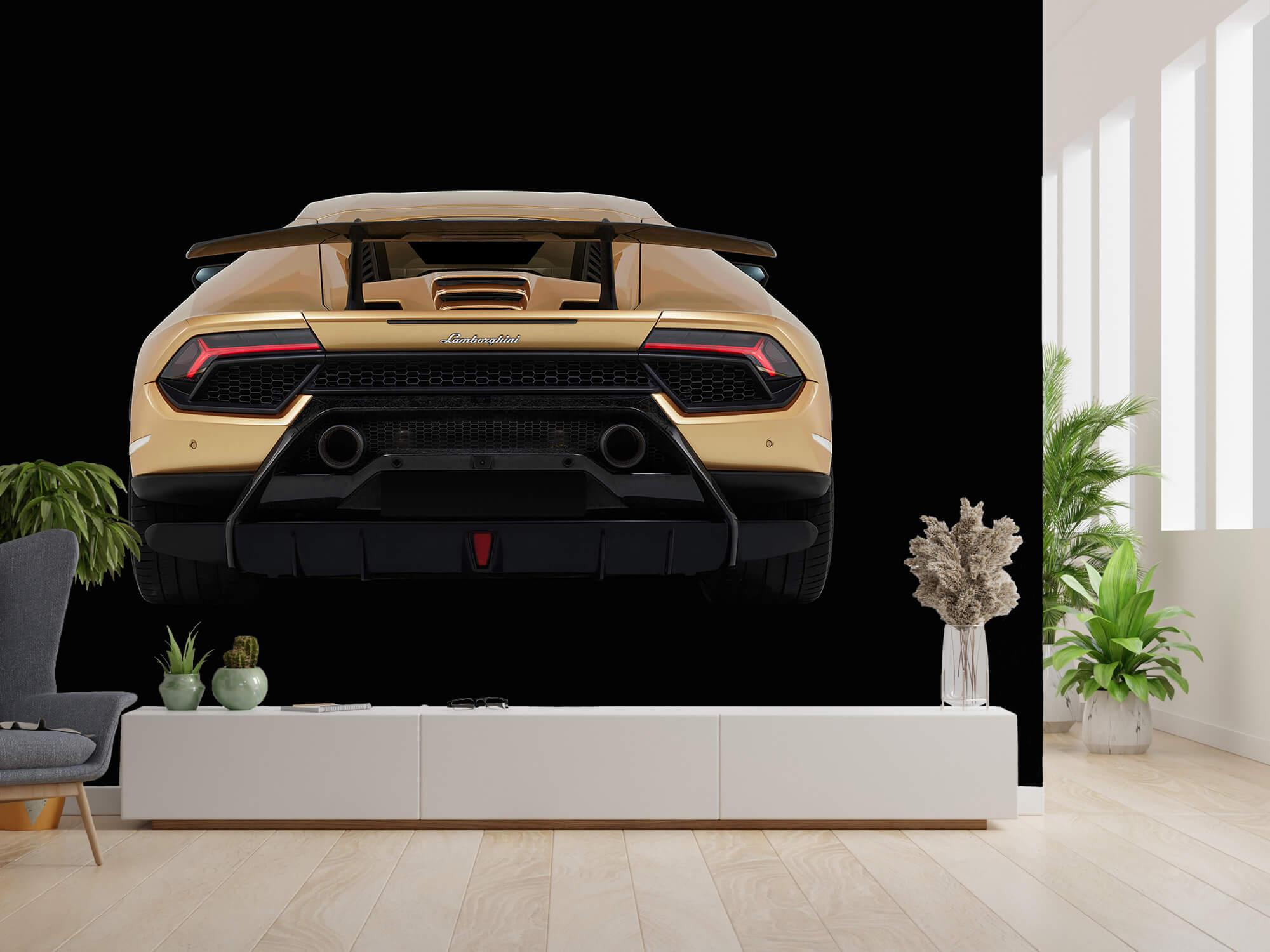 Wallpaper Lamborghini Huracán - Bak, svart 2