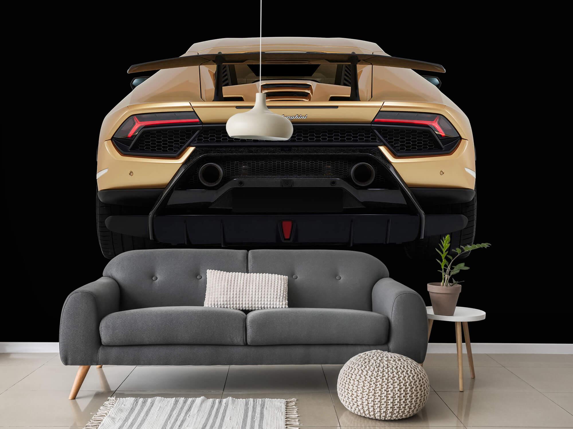 Wallpaper Lamborghini Huracán - Bak, svart 15