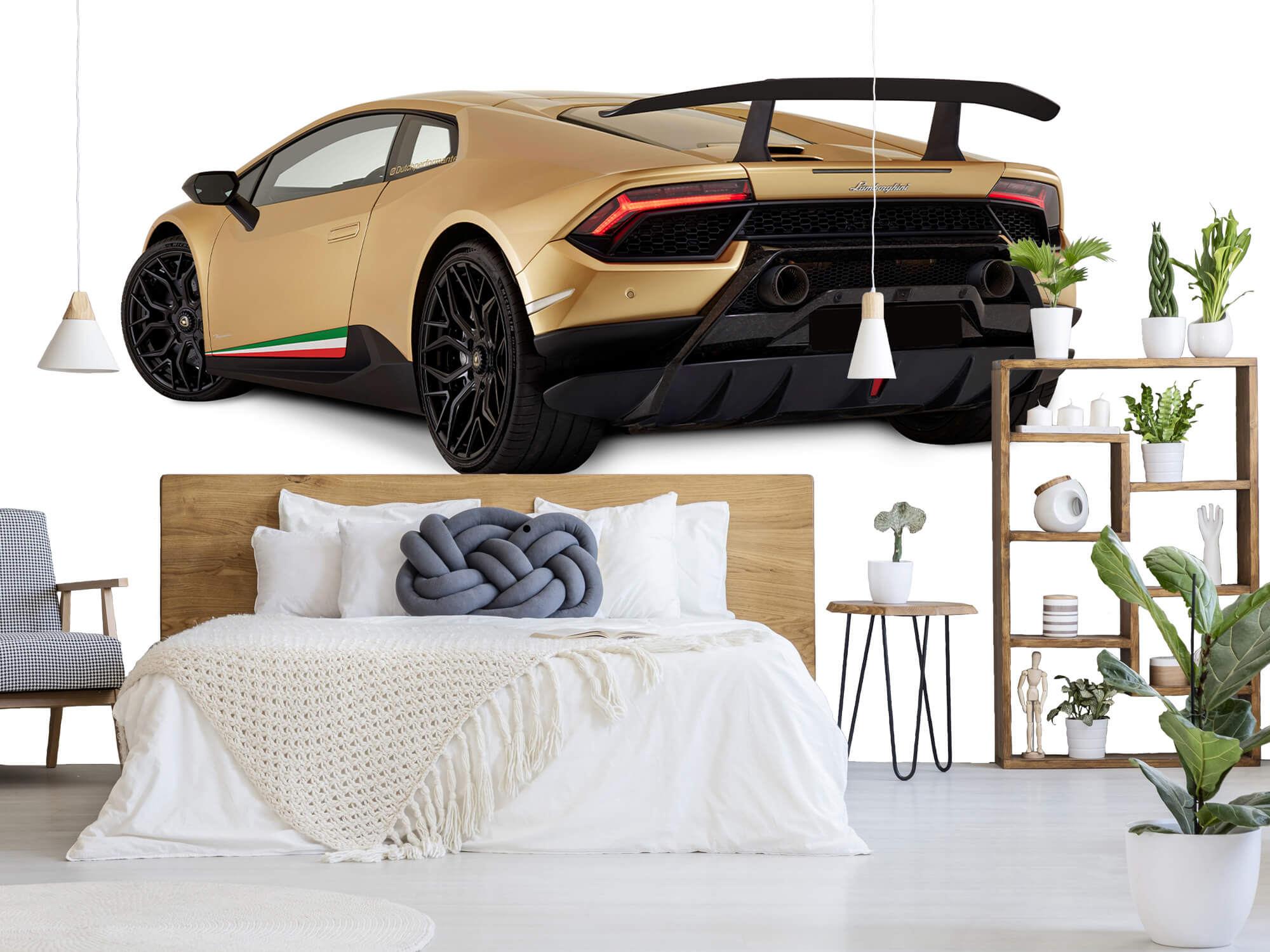 Wallpaper Lamborghini Huracán - Vänster bak, vit 7