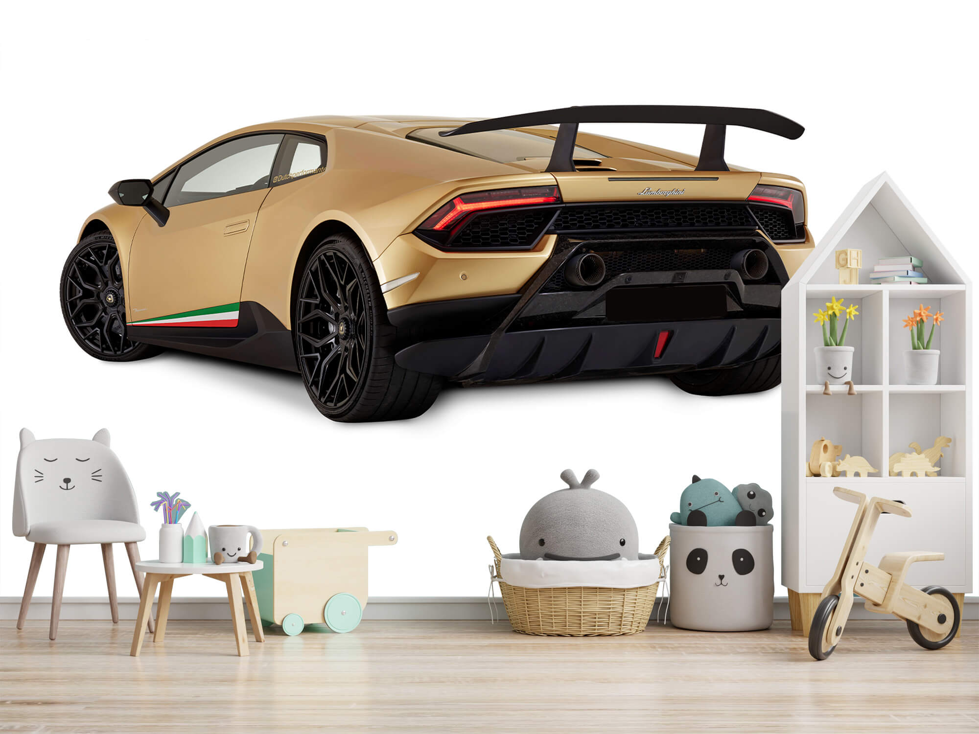 Wallpaper Lamborghini Huracán - Vänster bak, vit 8