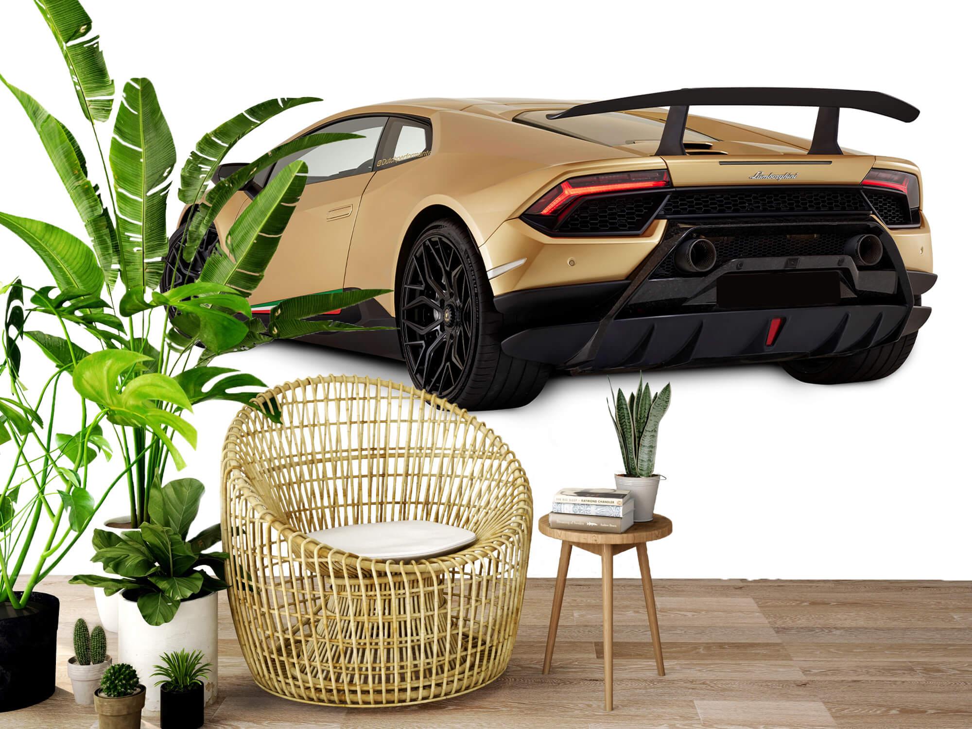 Wallpaper Lamborghini Huracán - Vänster bak, vit 9