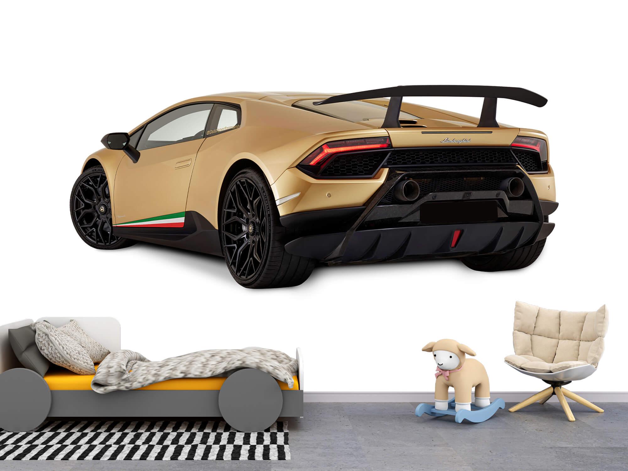Wallpaper Lamborghini Huracán - Vänster bak, vit 10